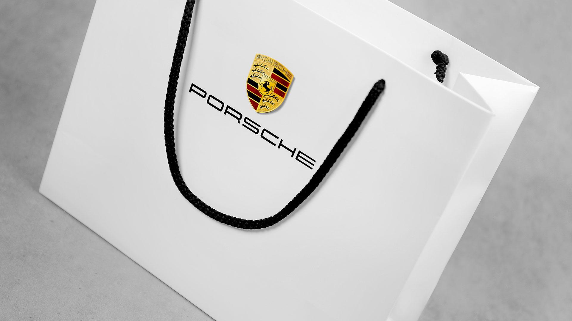 Dāvanu iepakojumu maisiņu apdruka Porsche