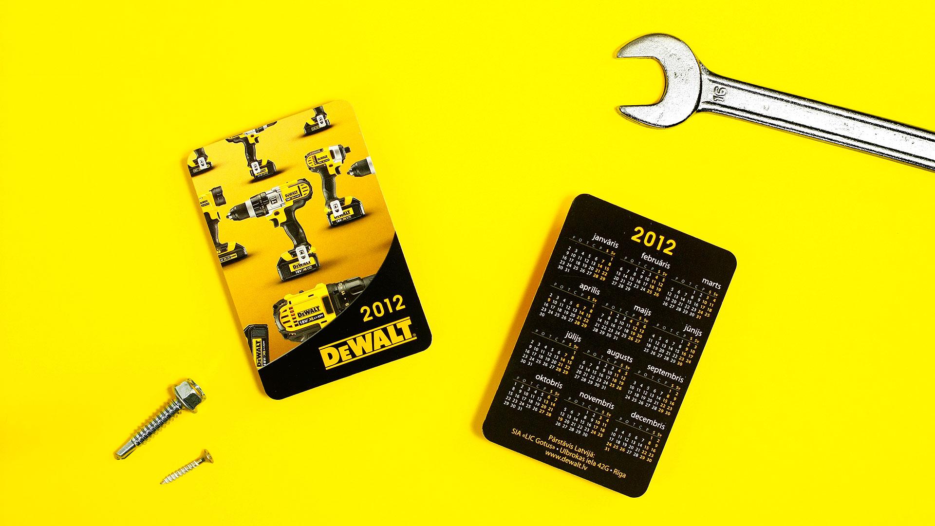 Kabatas kalendāru izgatavošana Dewalt