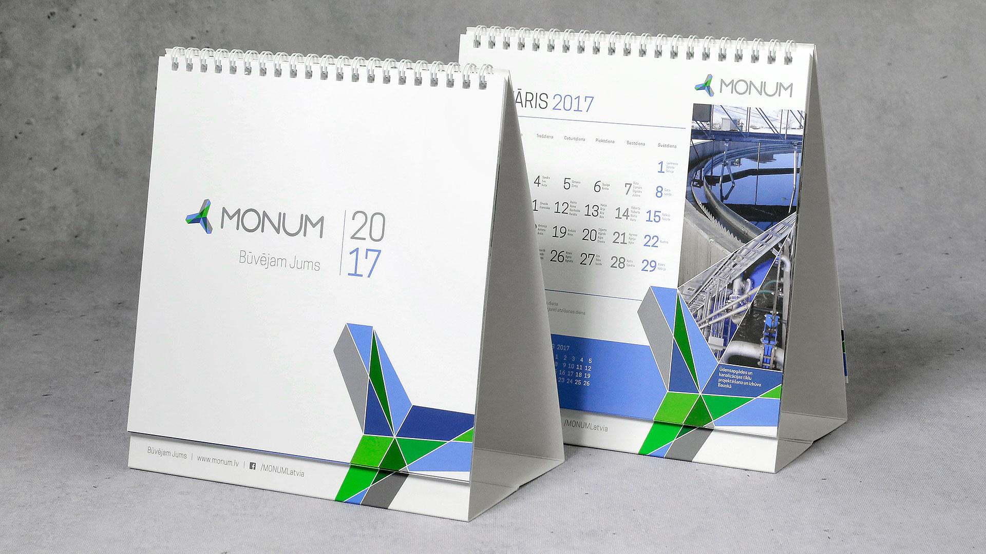 Maketēšana Monum kalendārs