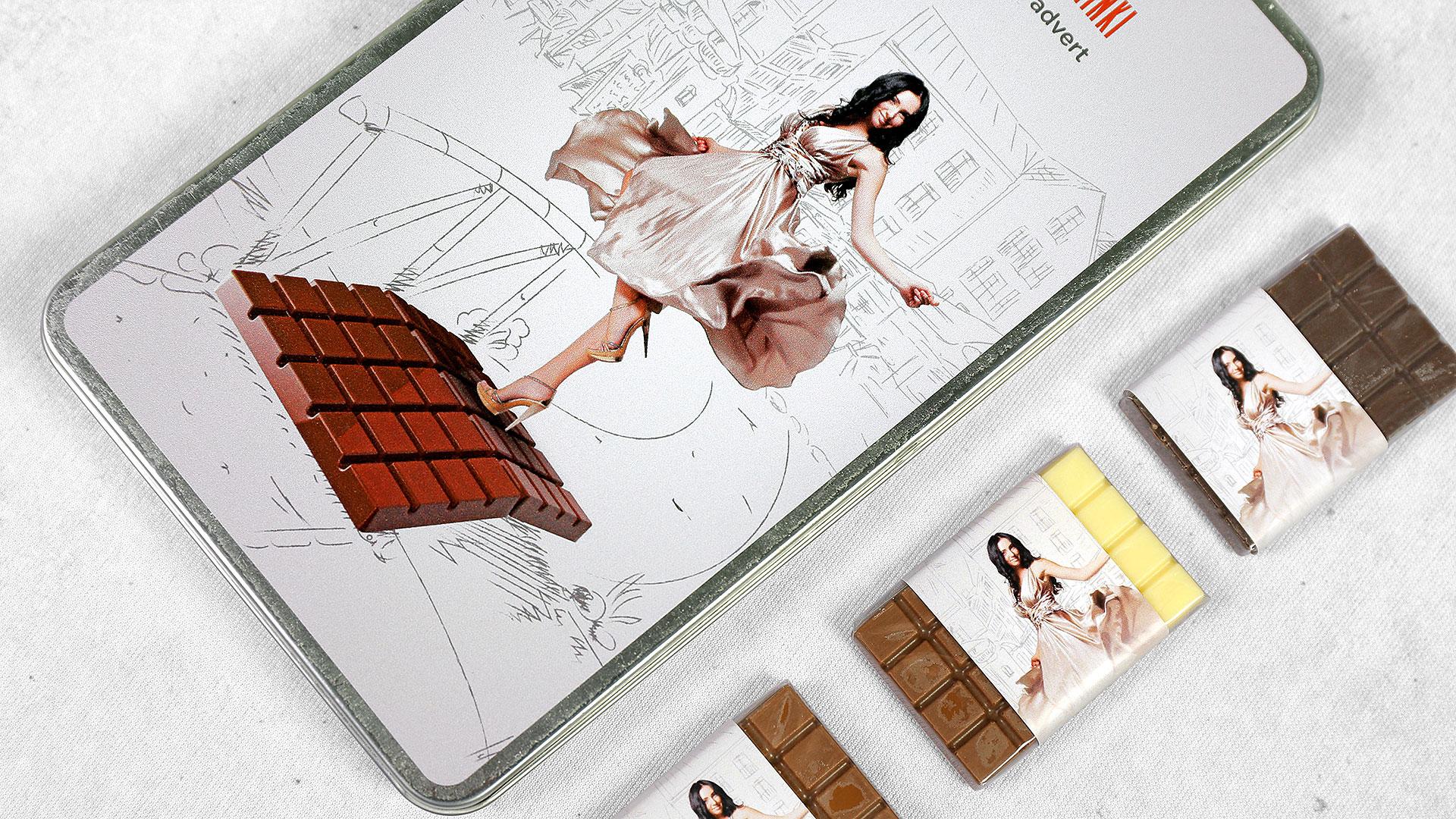 Reklāmas suvenīri, personalizētas konfektes ar reklāmu, logo
