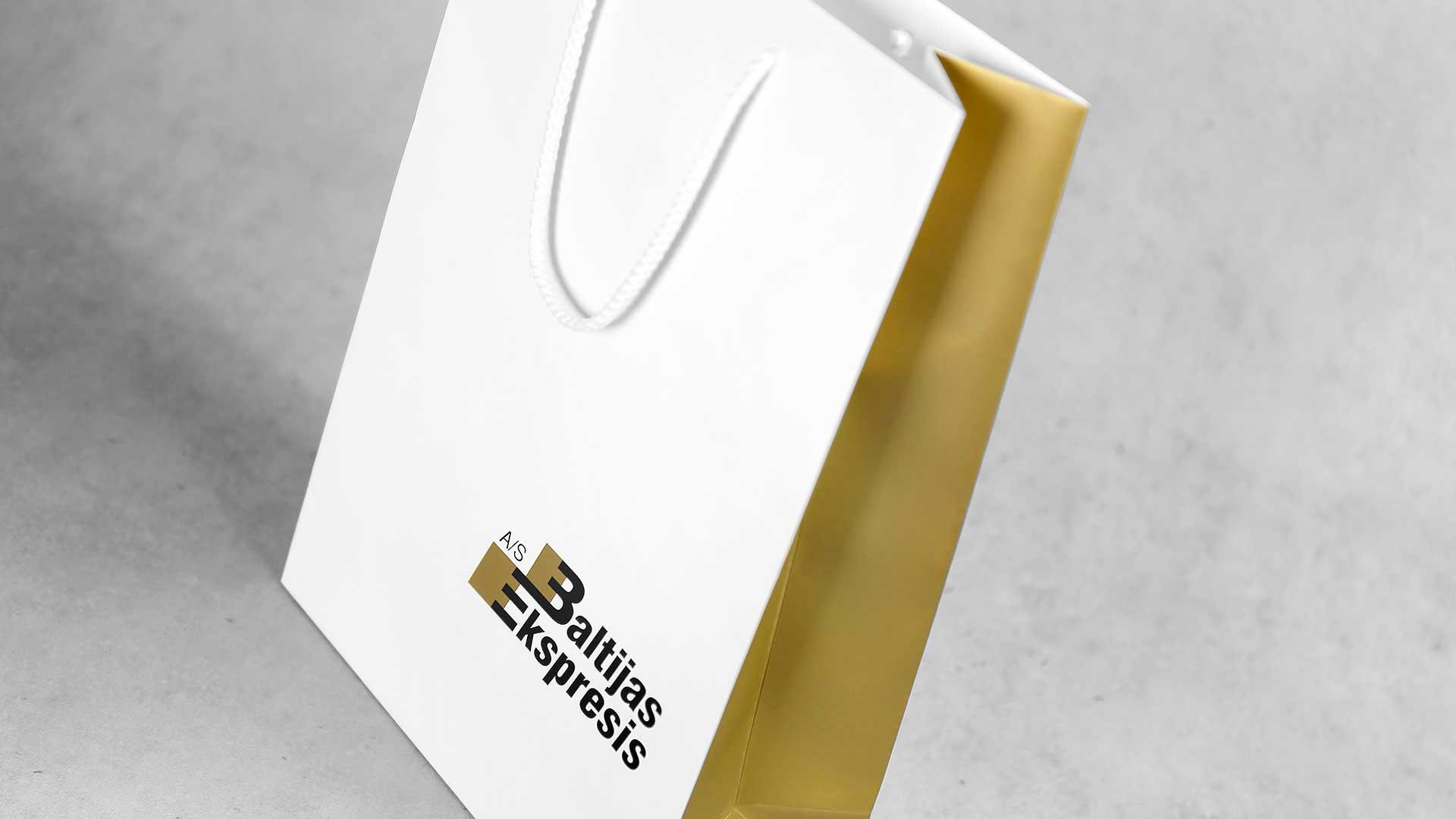 Dāvanu maisiņu apdruka Baltijas Ekspresis