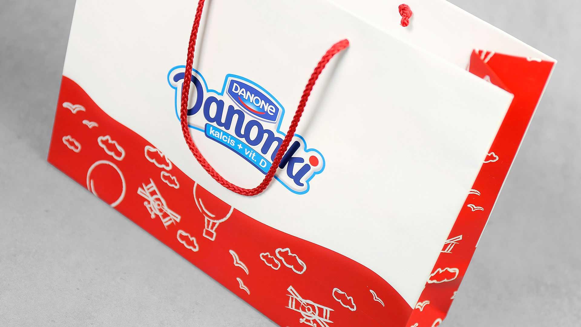 Dāvanu maisiņu apdruka Danonki
