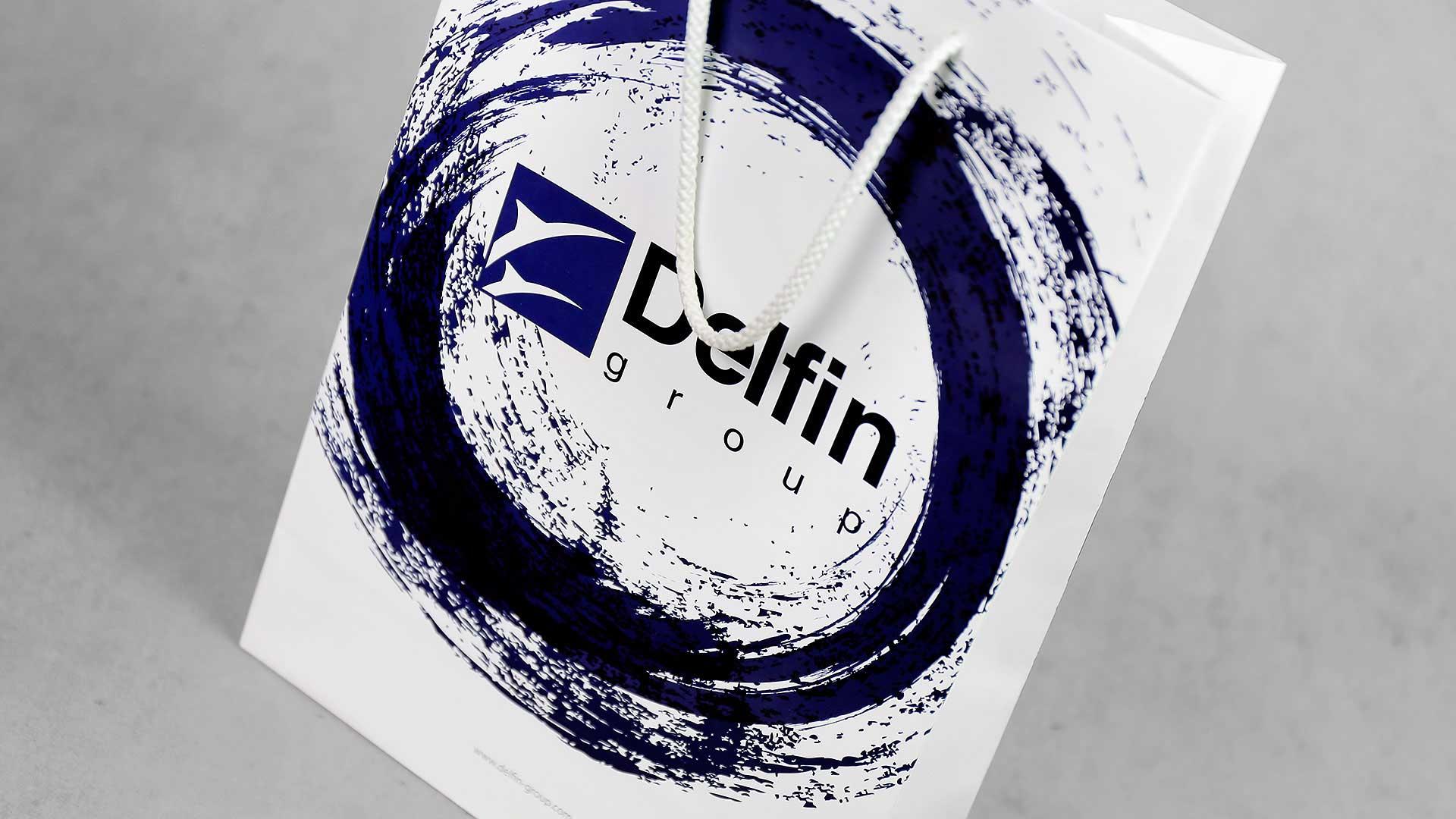 Dāvanu maisiņu apdruka Delfin Group