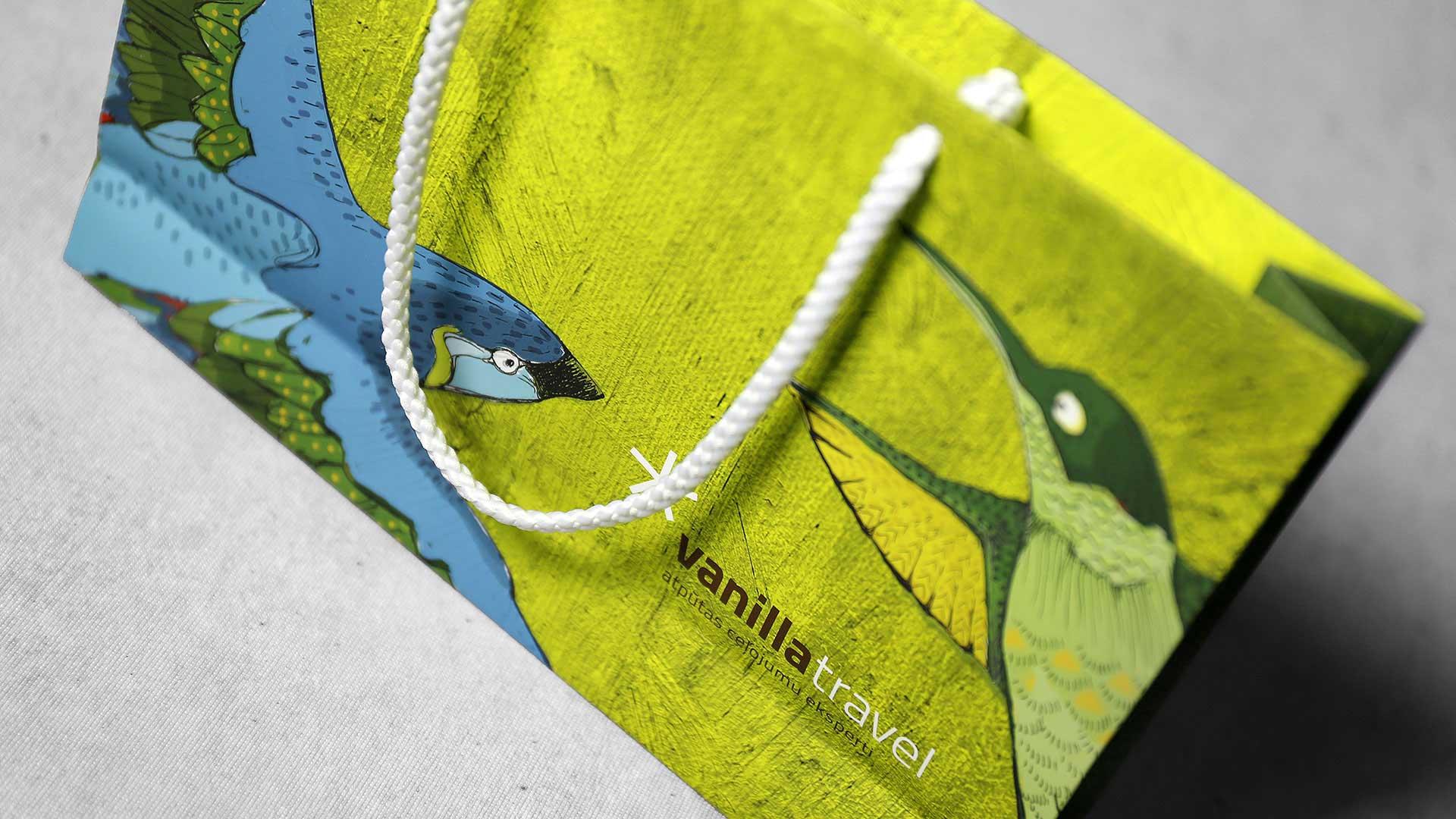Dāvanu maisiņu apdruka Vanilla Travel
