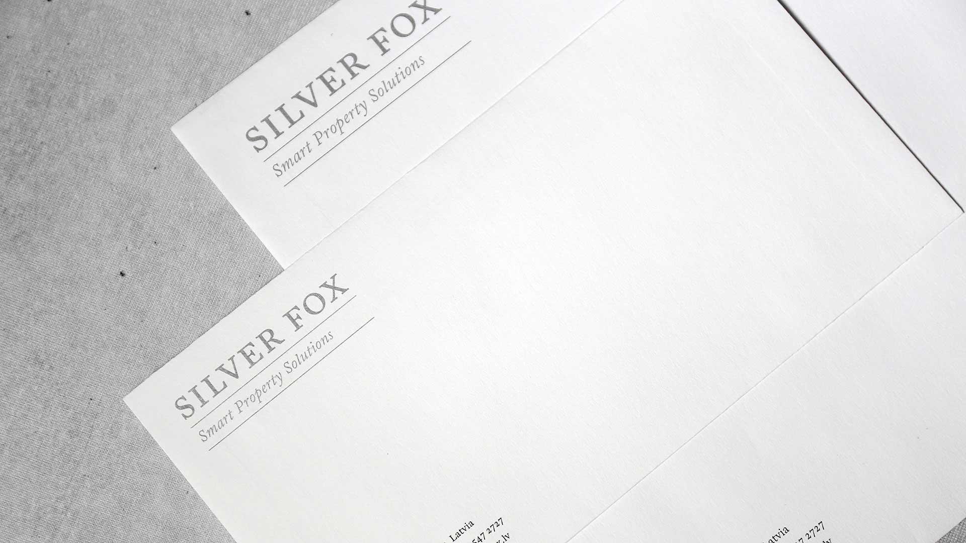 Dizaina aplokšņu izgatavošana Silver Fox