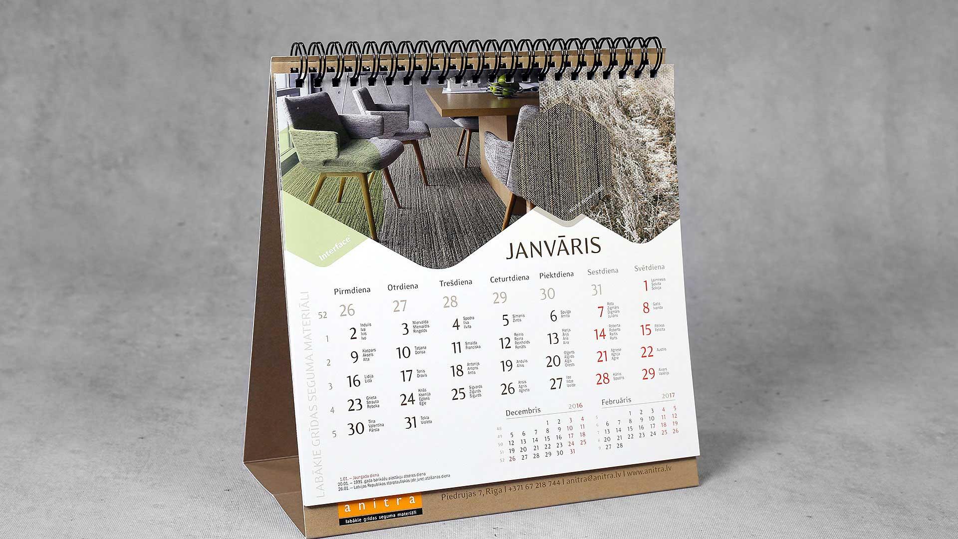 Galda kalendāri Anitra