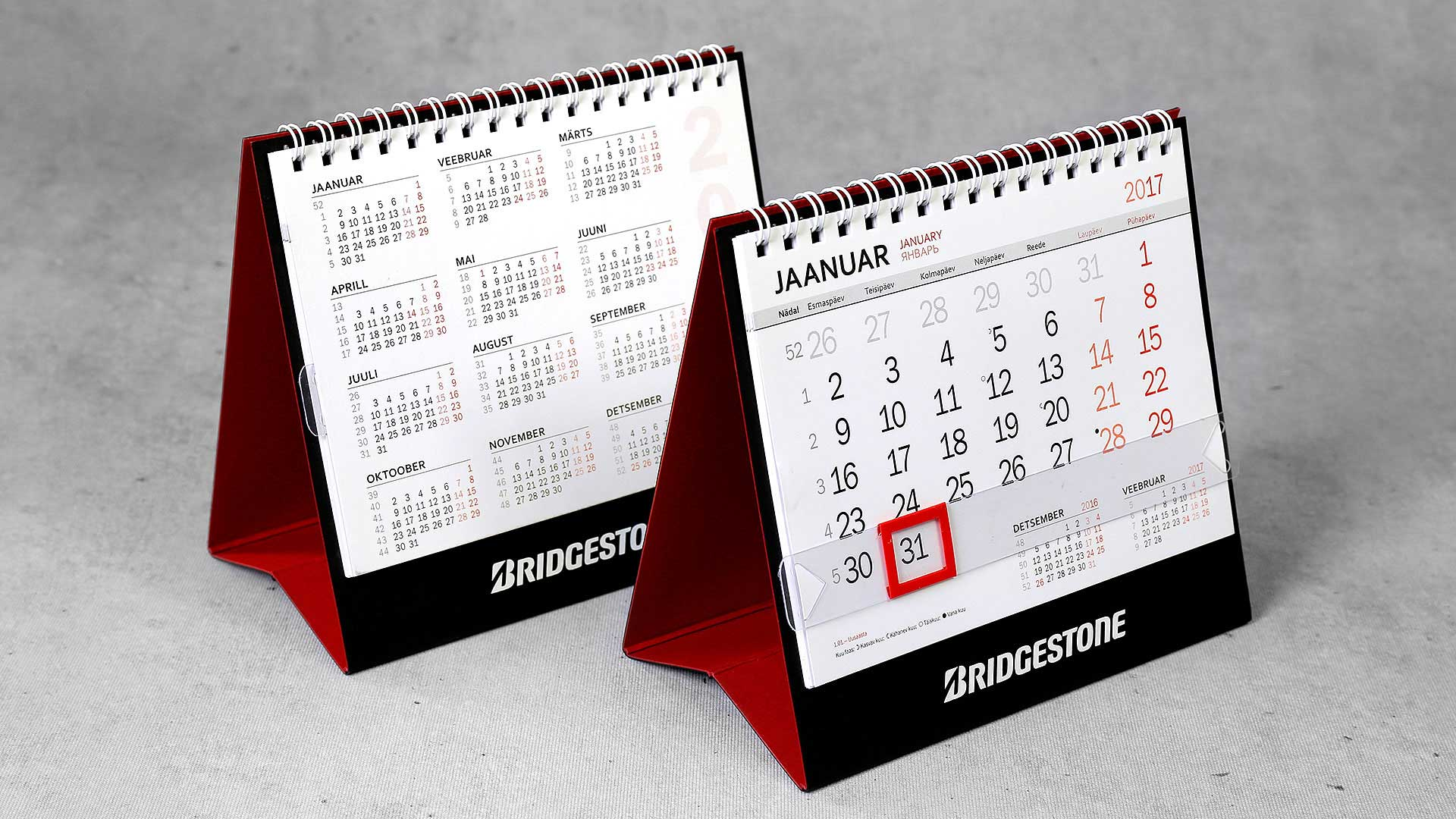 Galda kalendāri Bridgestone
