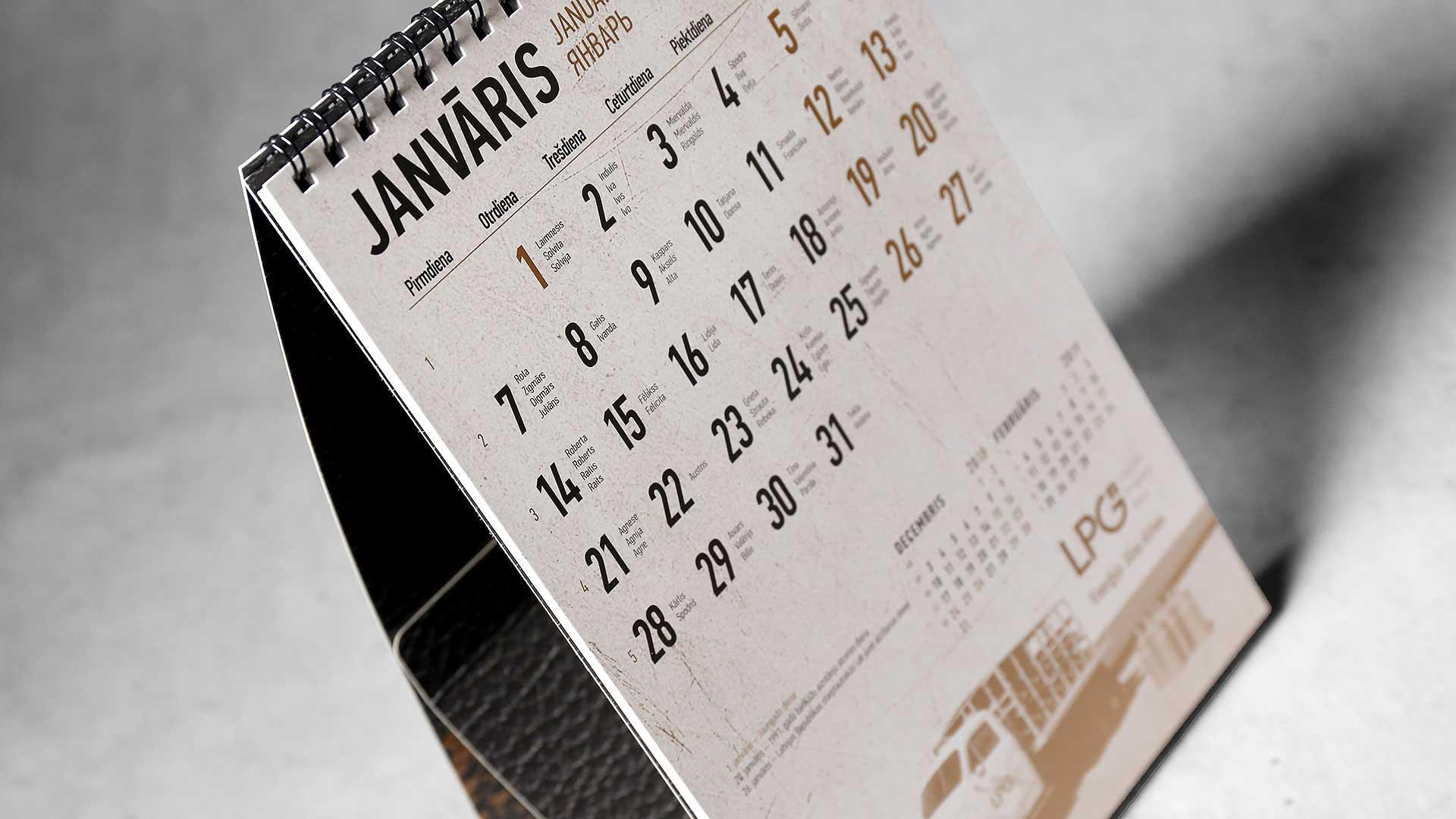 Galda kalendāri LPG