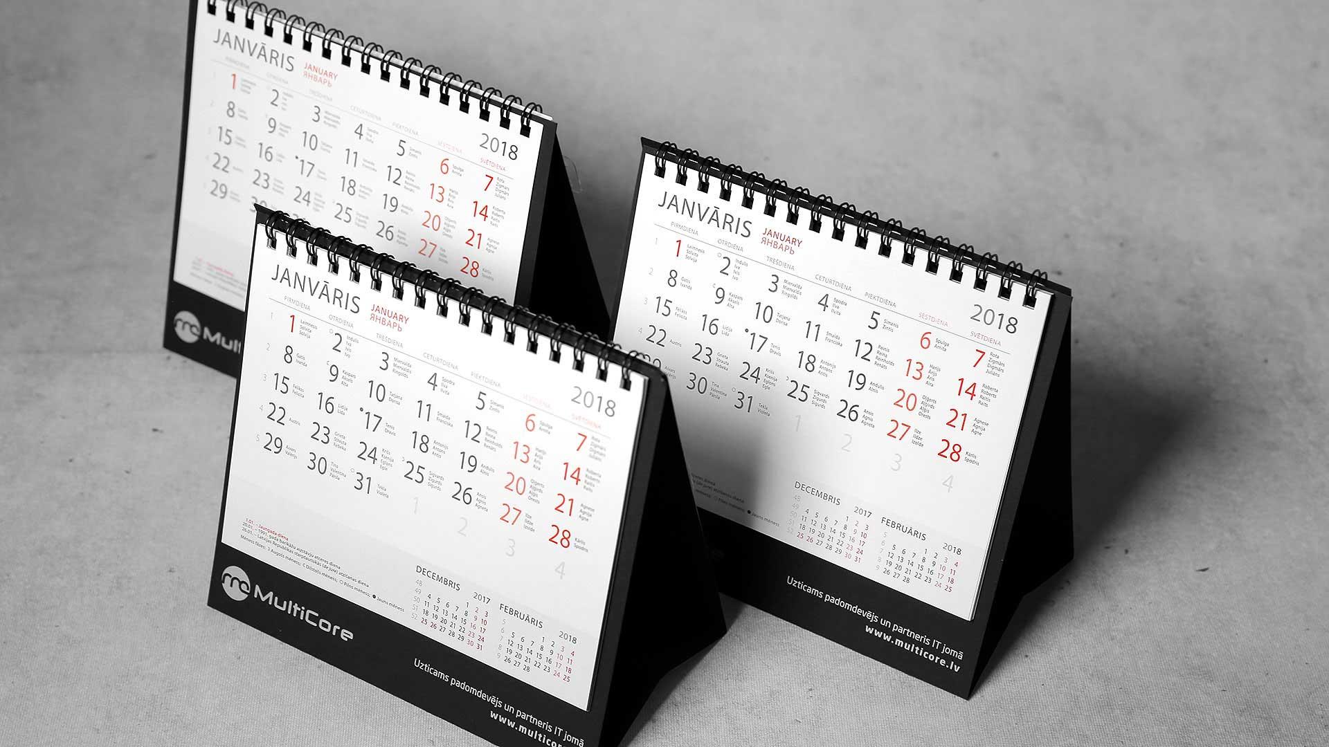 Galda kalendāri Dentoflex