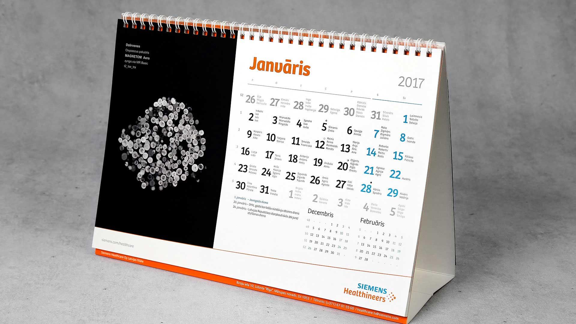 Galda kalendāri Siemens