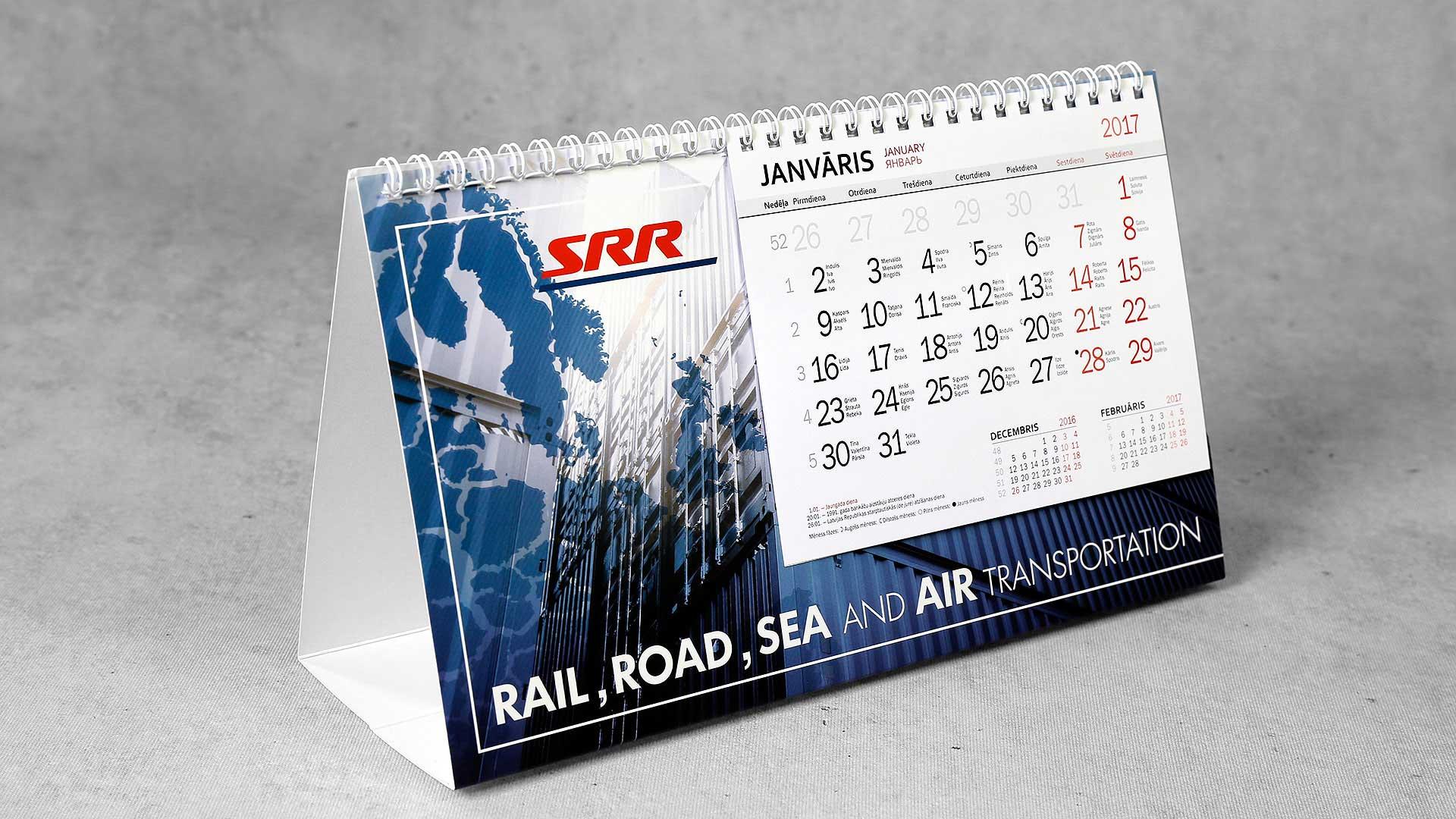 Galda kalendāri SRR