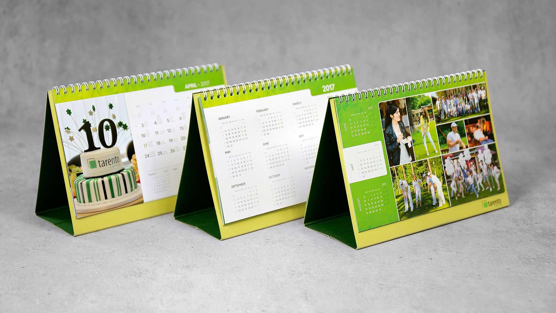 Galda kalendāri Tarento