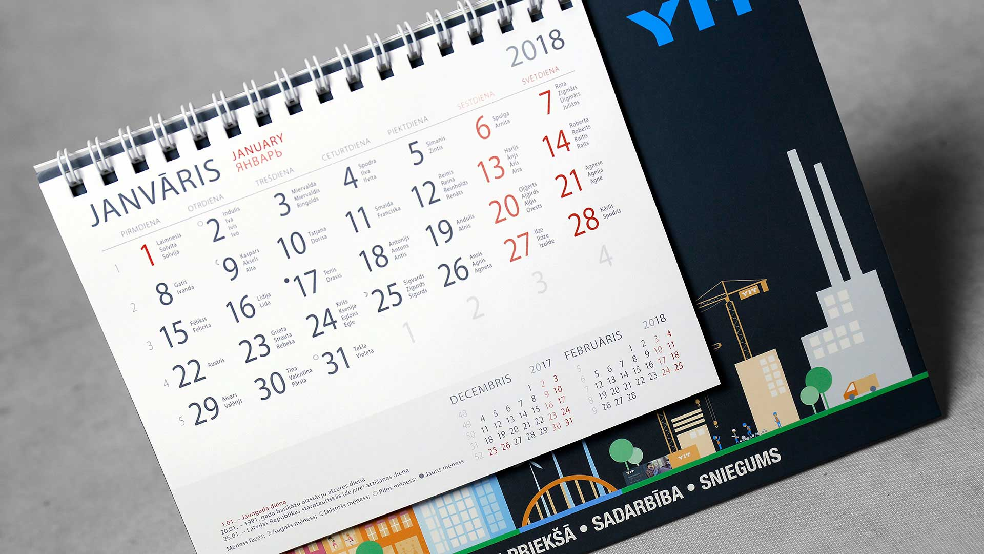 Galda kalendāri YIT