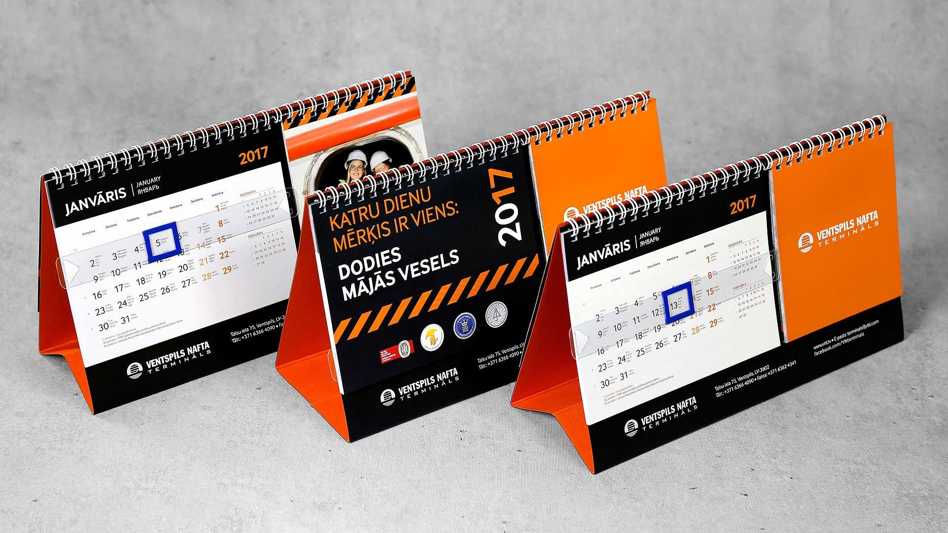 Galda kalendāru druka Ventspils nafta