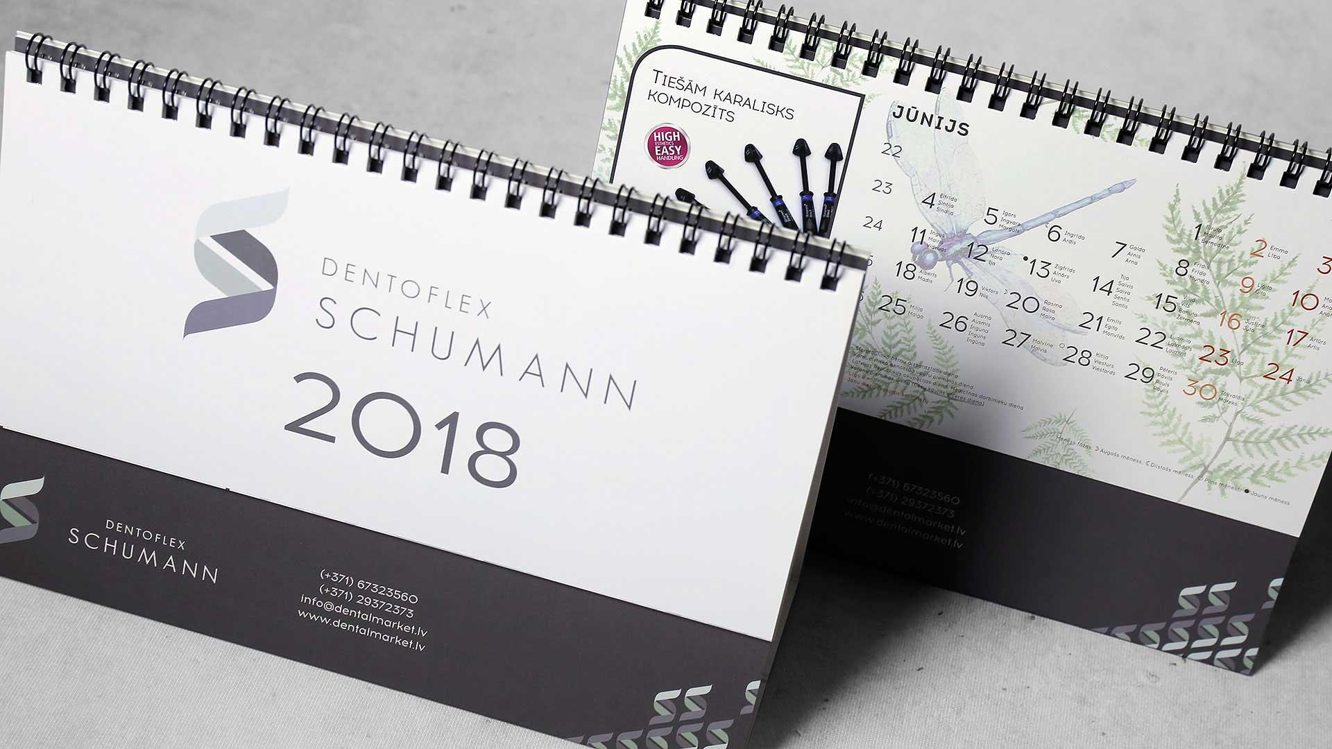 Galda kalendāru izgatavošana Dentoflex