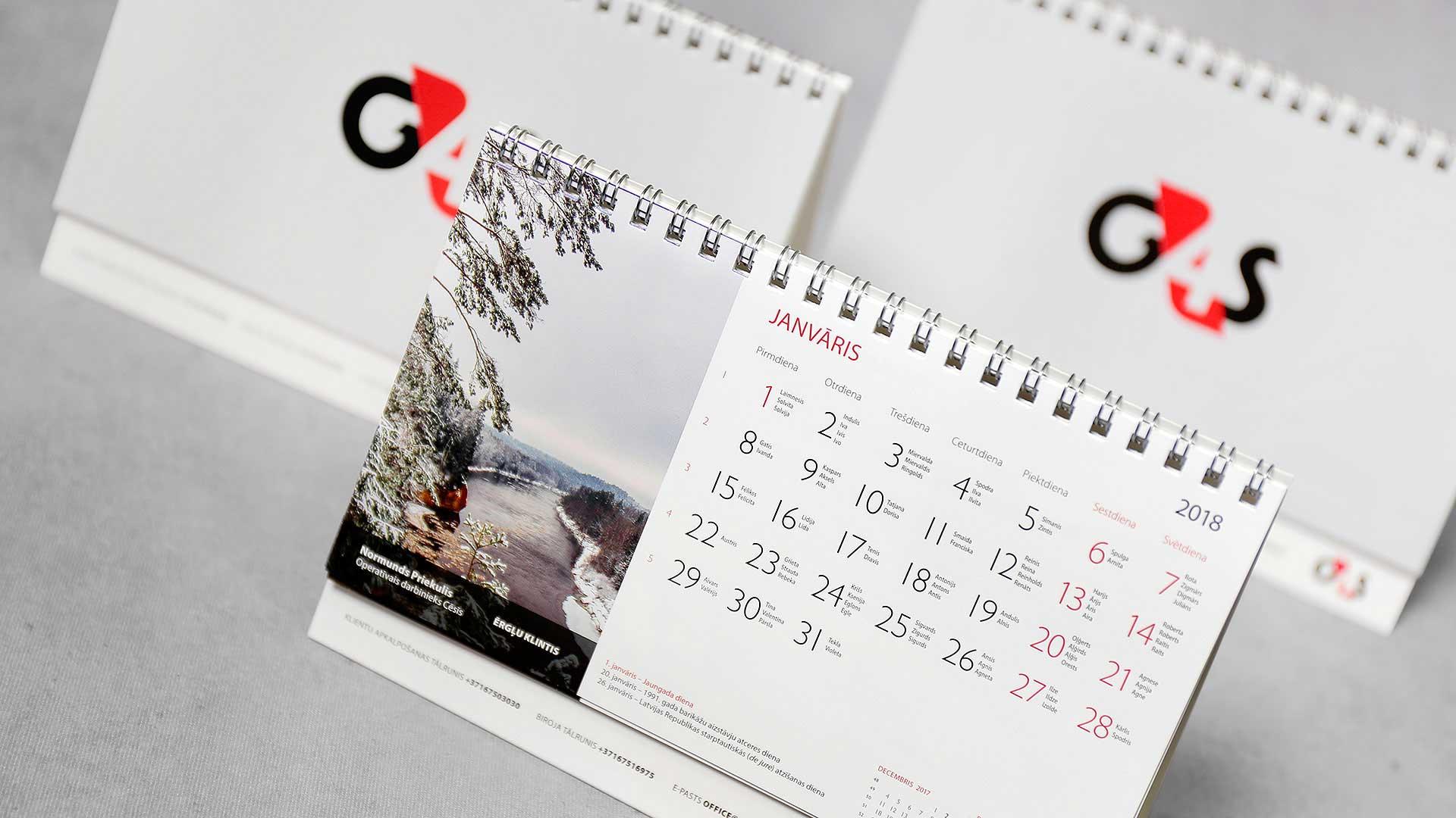 Galda kalendāru izgatavošana G4S