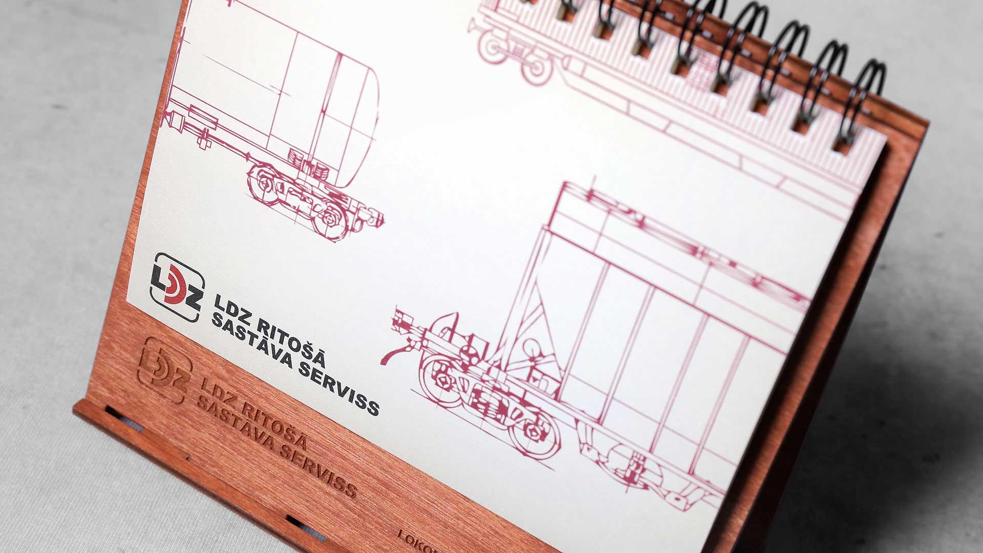 Koka kalendāru izgatavošana LDZ