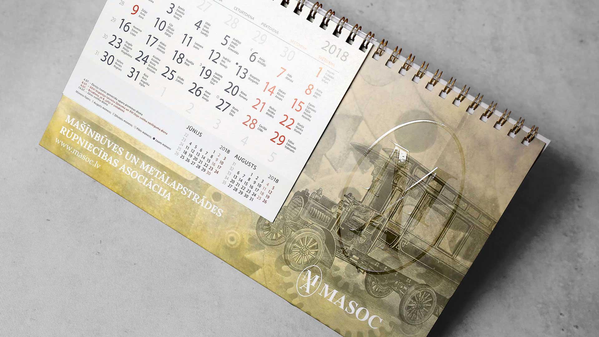 Galda kalendāru izgatavošana Masoc