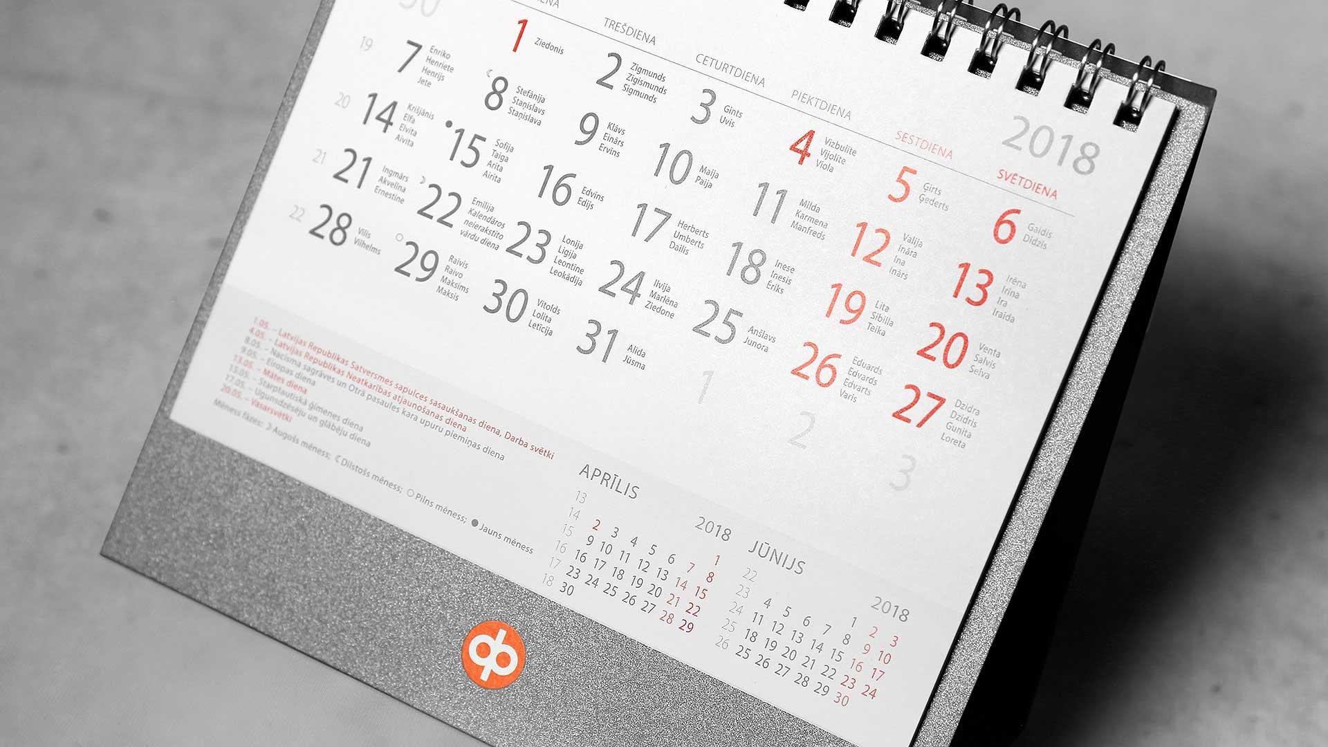 Galda kalendāru izgatavošana Seesam