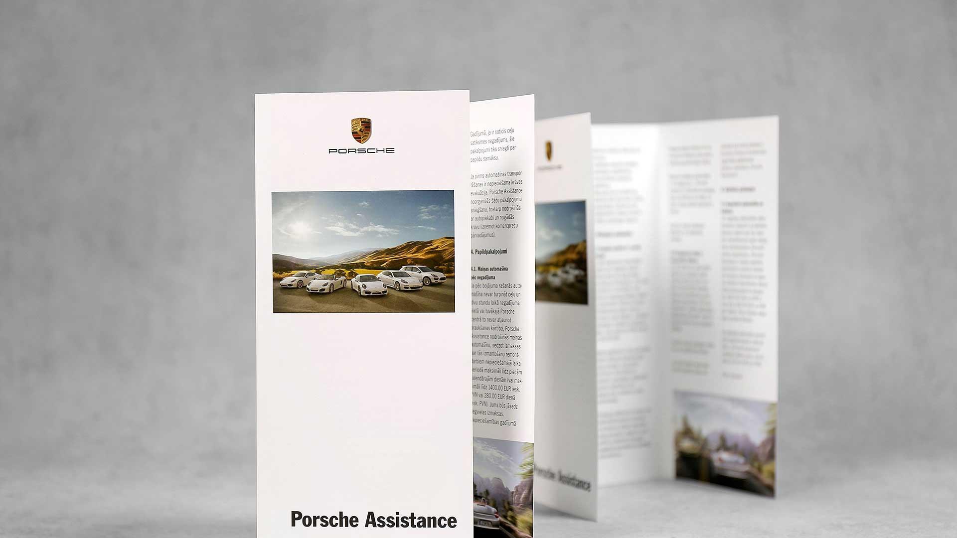 Klasisko A4 bukletu druka Porsche