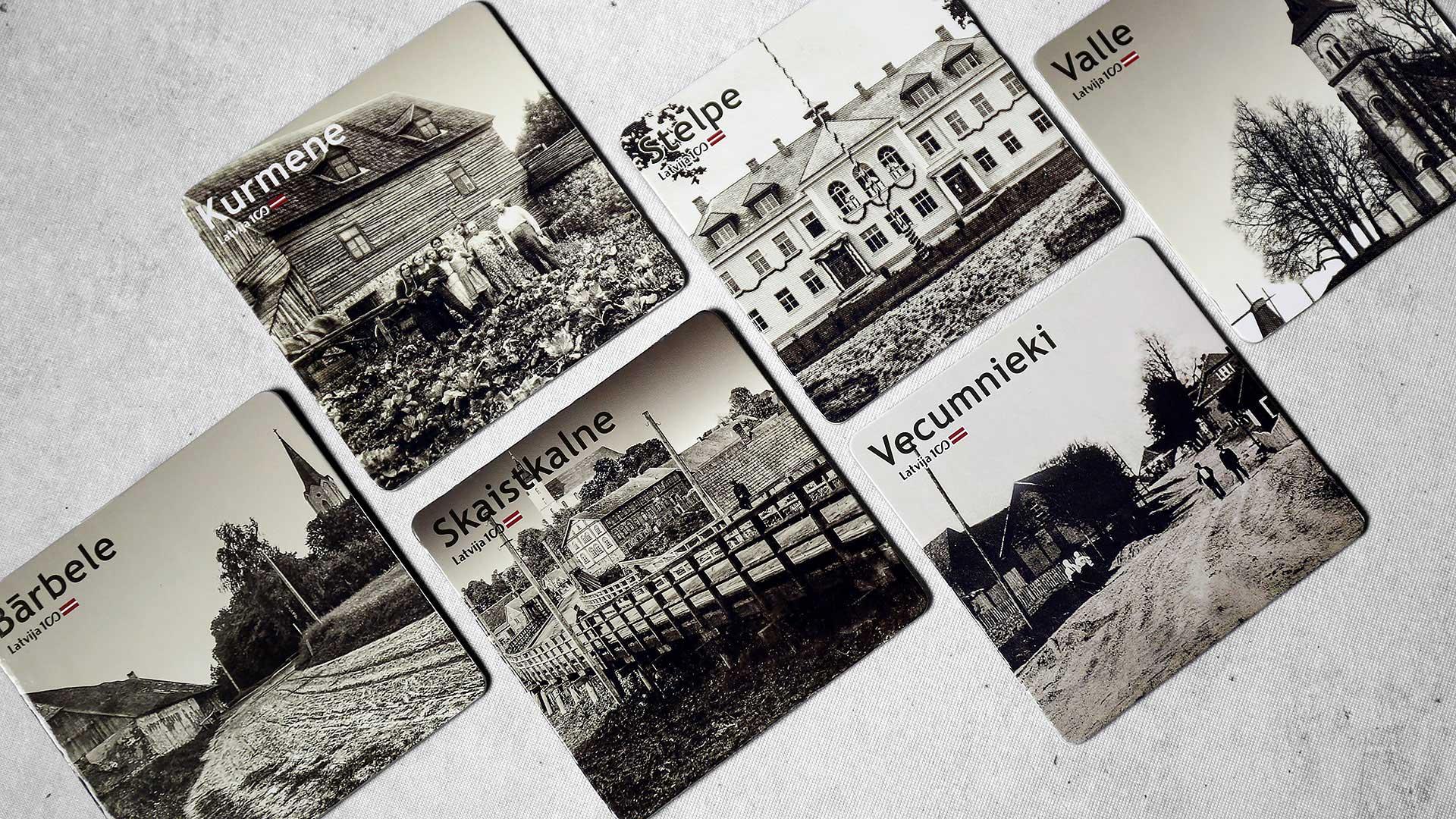 Krūzīšu un glāžu paliktņi, paliktņu apdruka Latvija 100