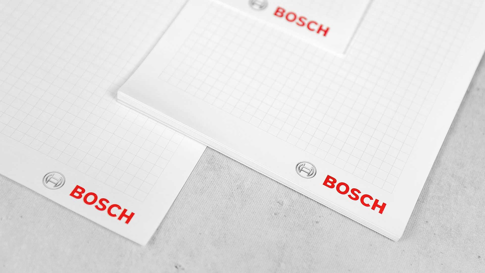 Līmētu blociņu apdruka Bosch