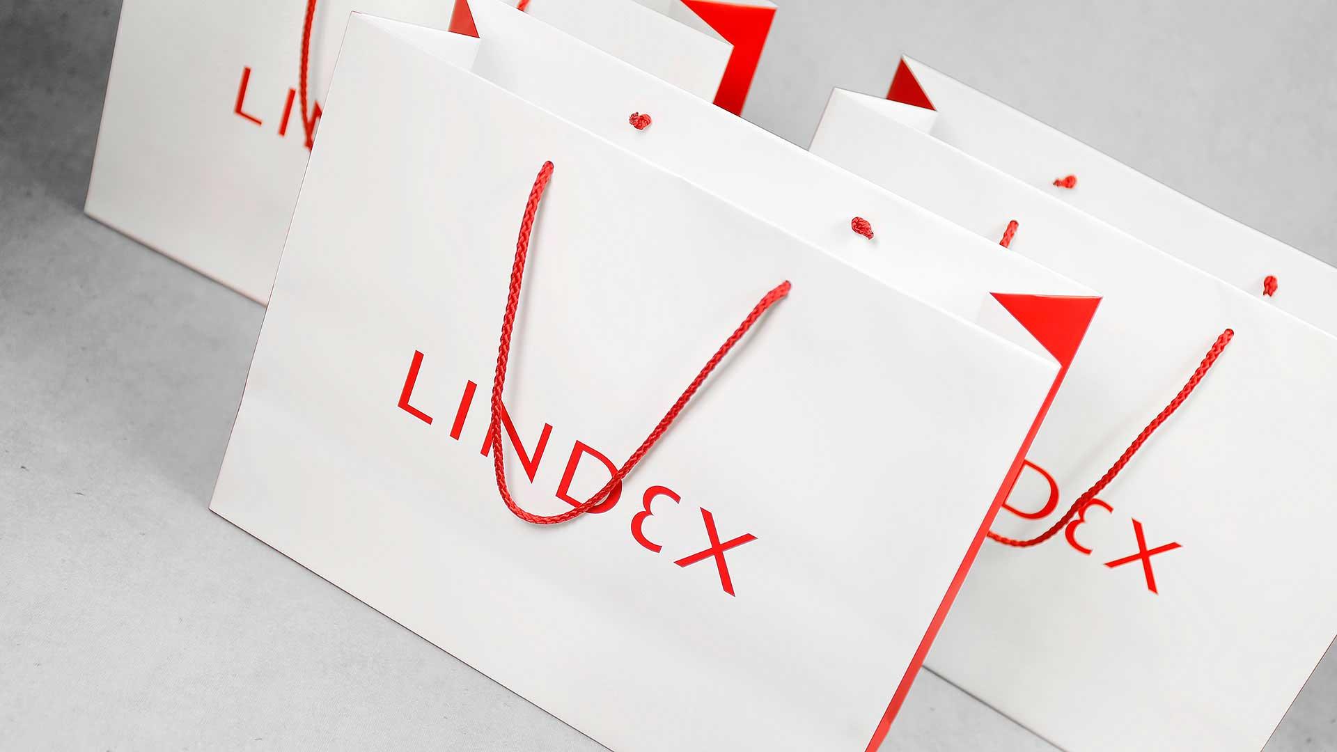 Papīra maisiņu apdruka, izgatavošana Lindex
