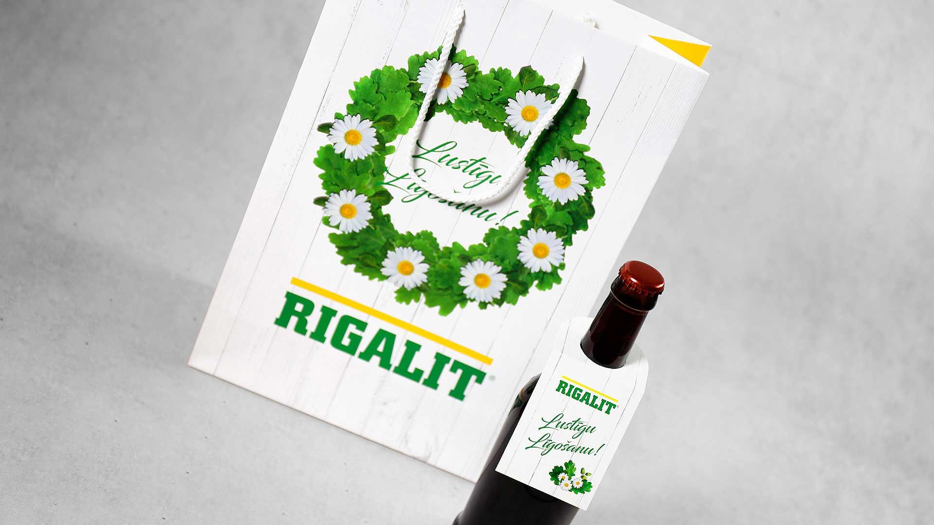 Papīra maisiņu apdruka, izgatavošana Rigalit