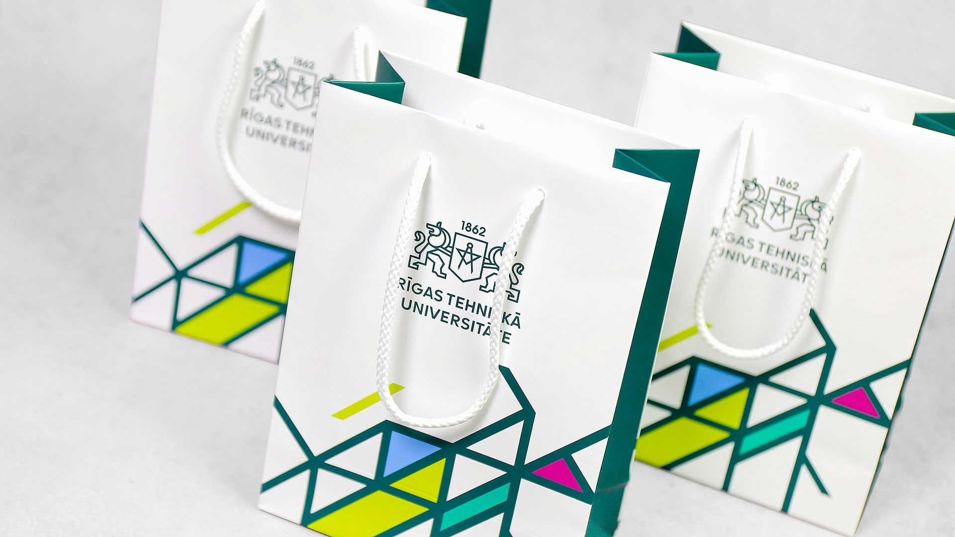 Papīra maisiņu apdruka, izgatavošana RTU