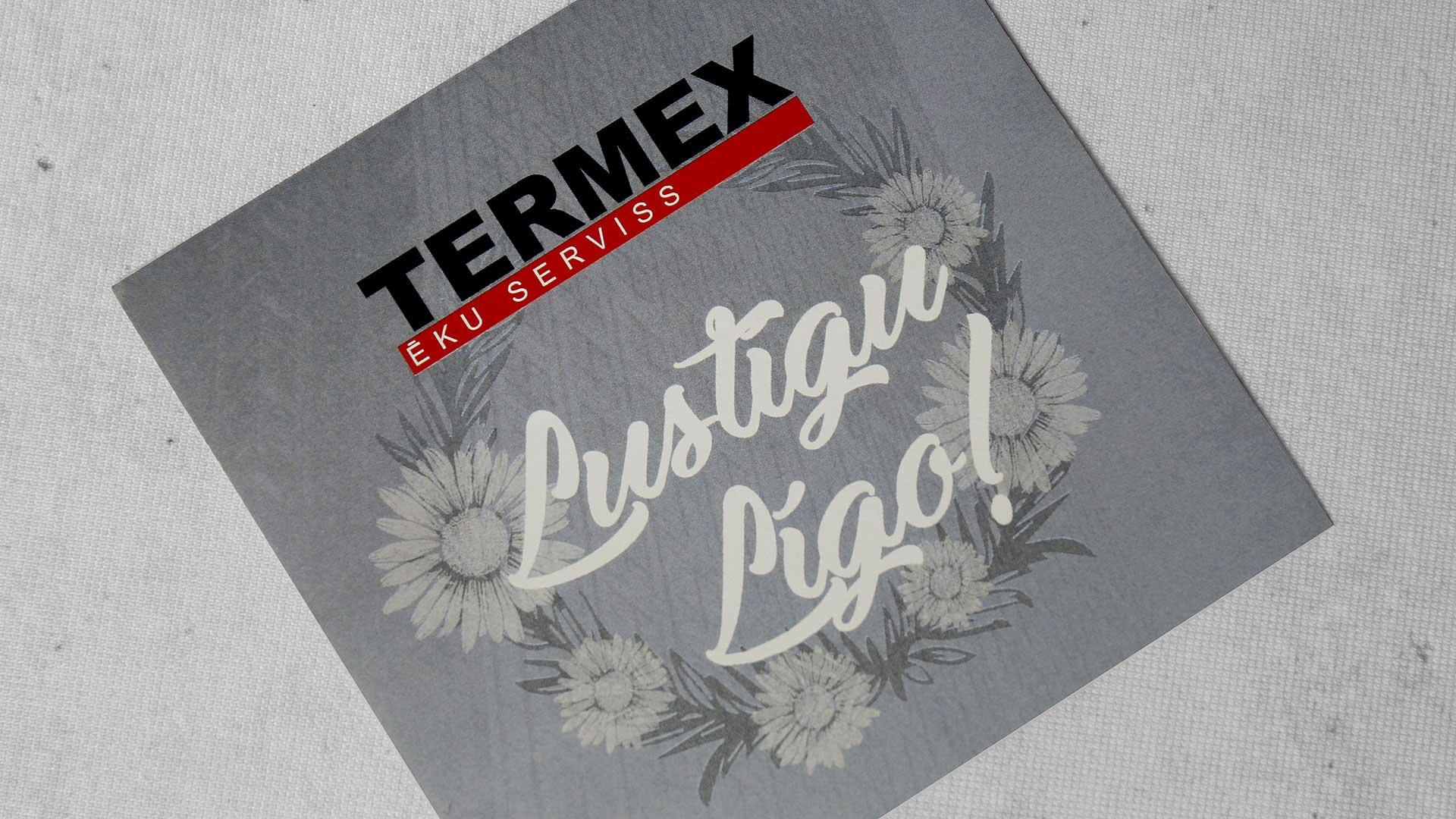 Papīra uzlīmju druka, izgatavošana Termex