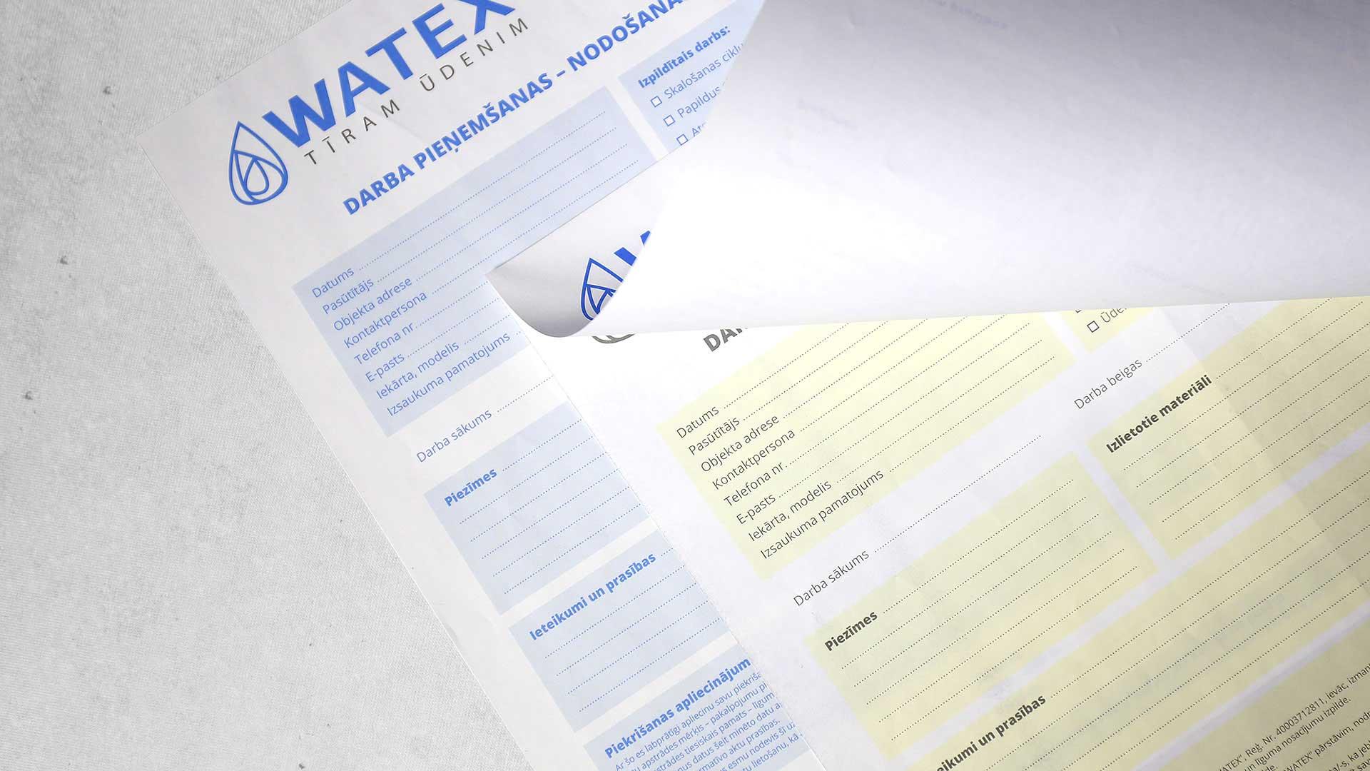 Paškopējošās veidlapas izgatavošana Watex