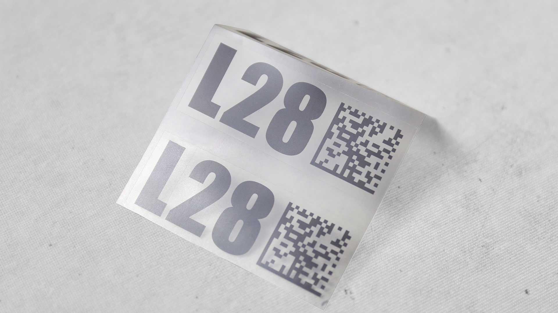 Plēves uzlīmju druka, izgatavošana L28