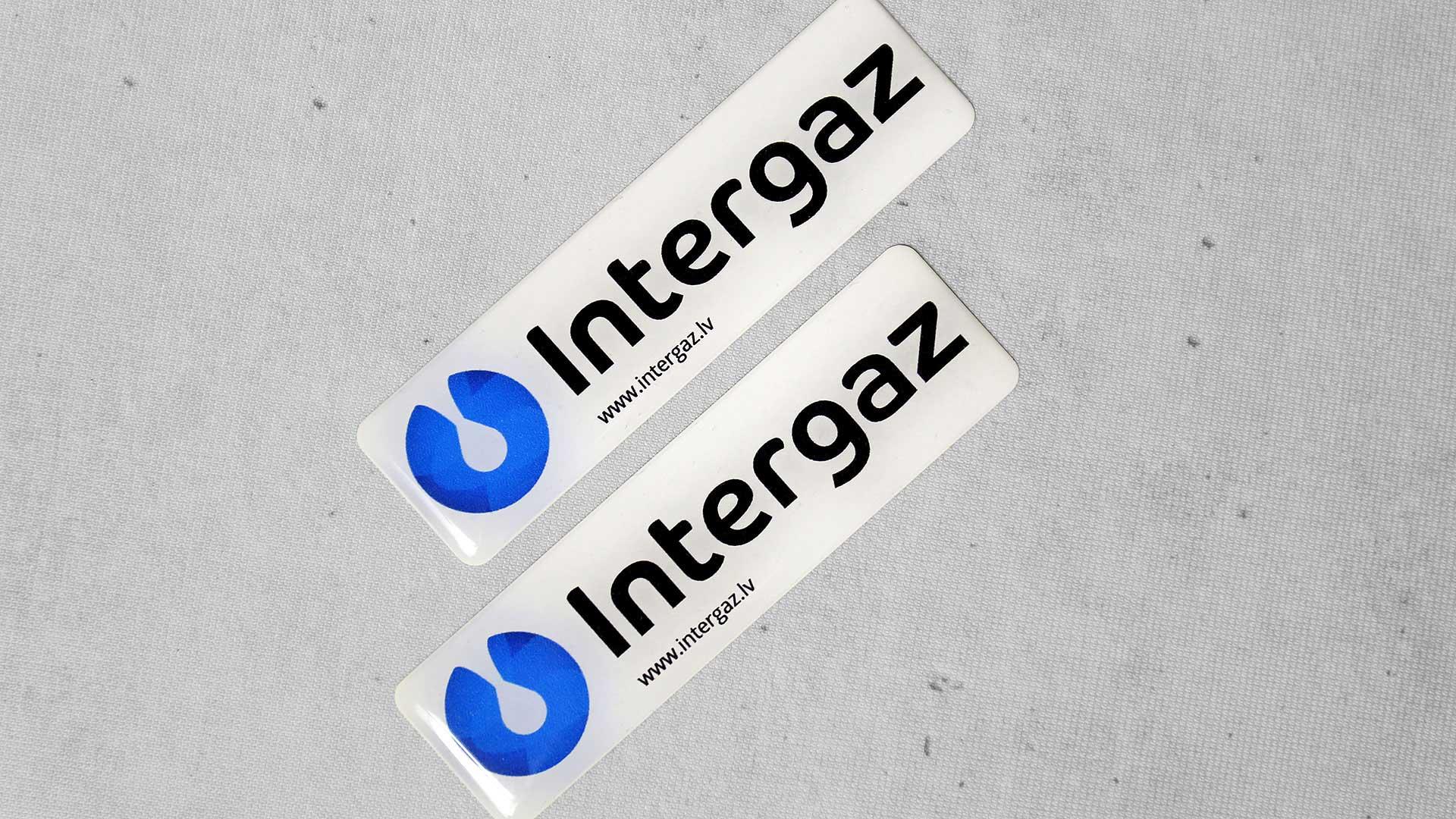Polimēra uzlīmju izgatavošana Intergaz