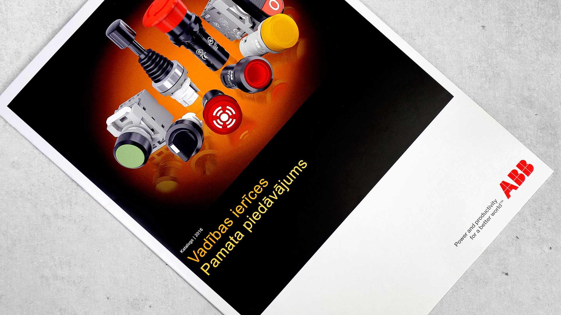 Reklāmas brošūru druka ABB