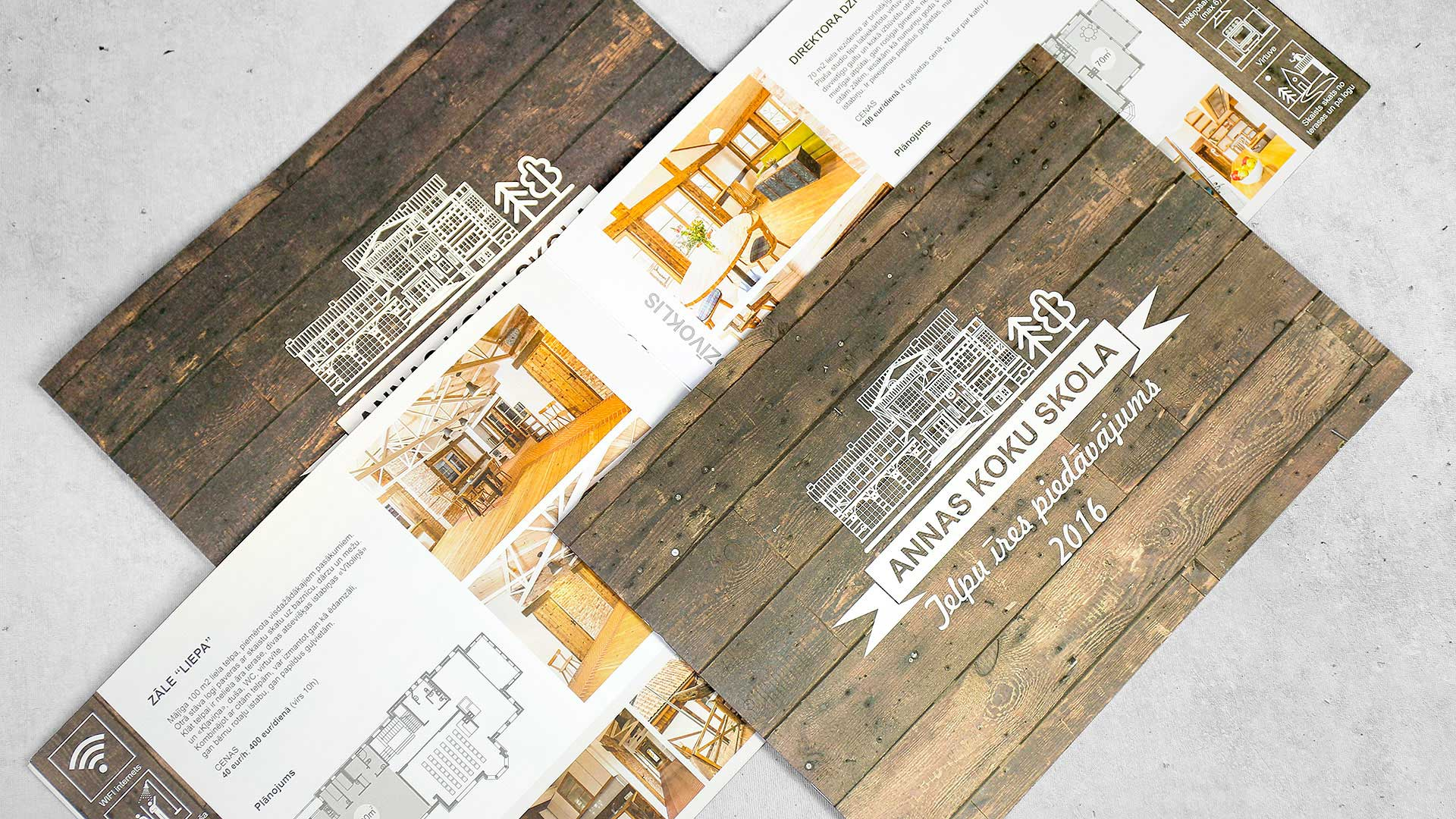 Reklāmas brošūru druka Annas koku skola