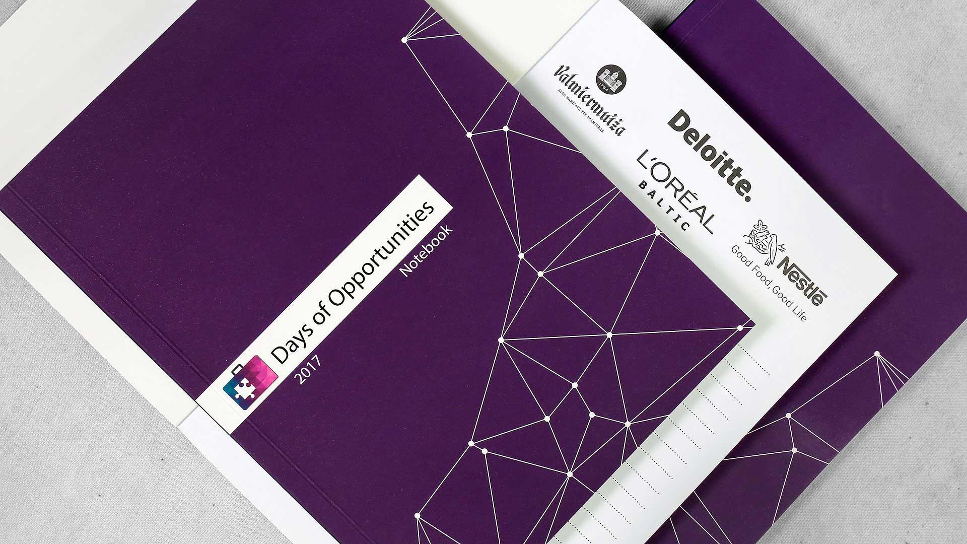 Reklāmas brošūru druka Notebook