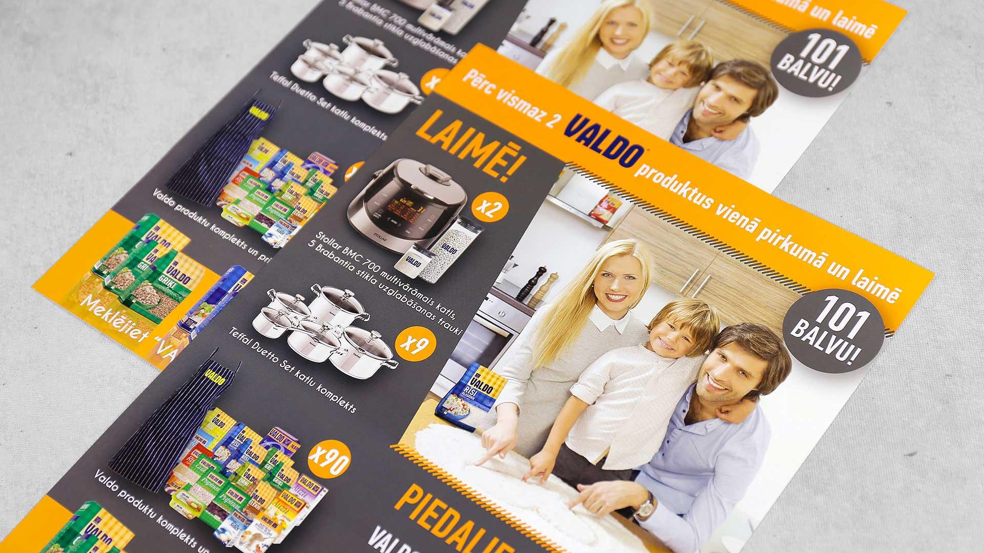 Reklāmas brošūru druka Valdo