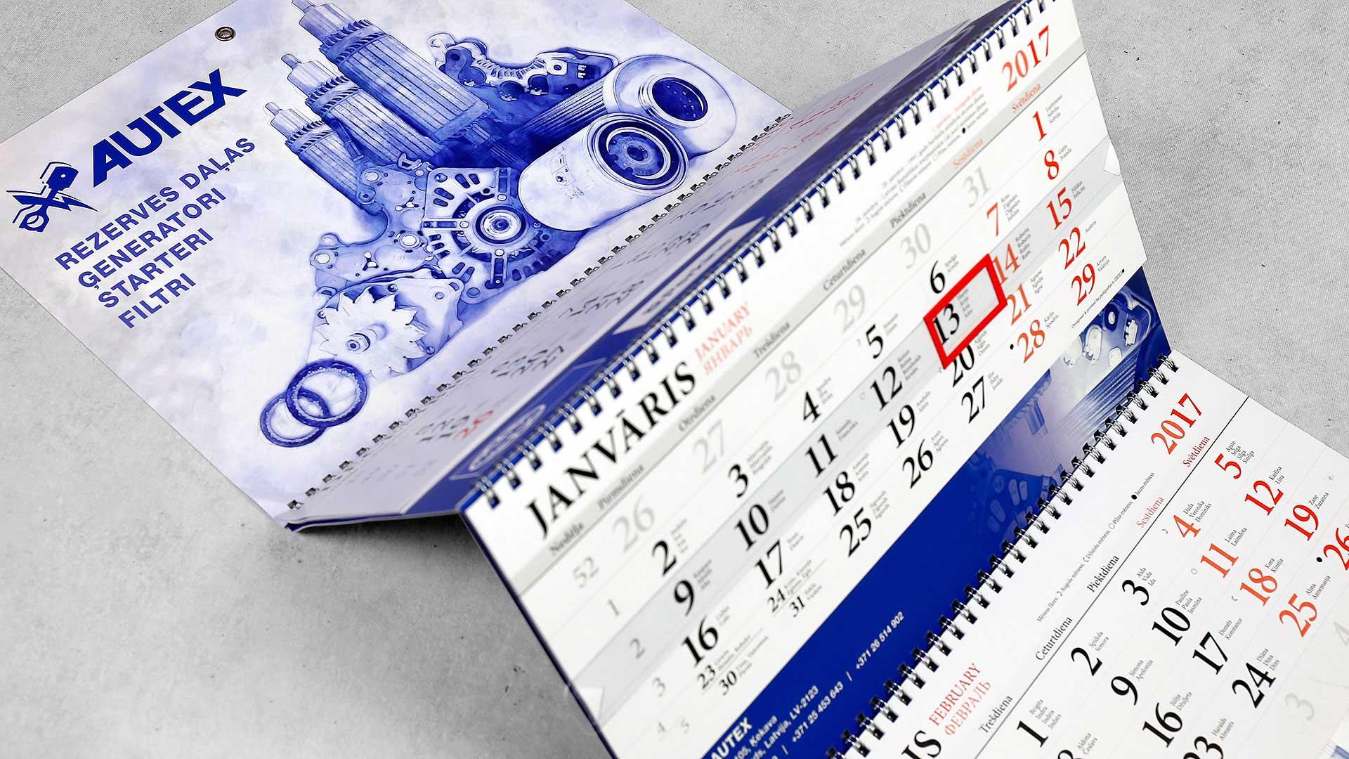 Sienas kalendāru druka Autex