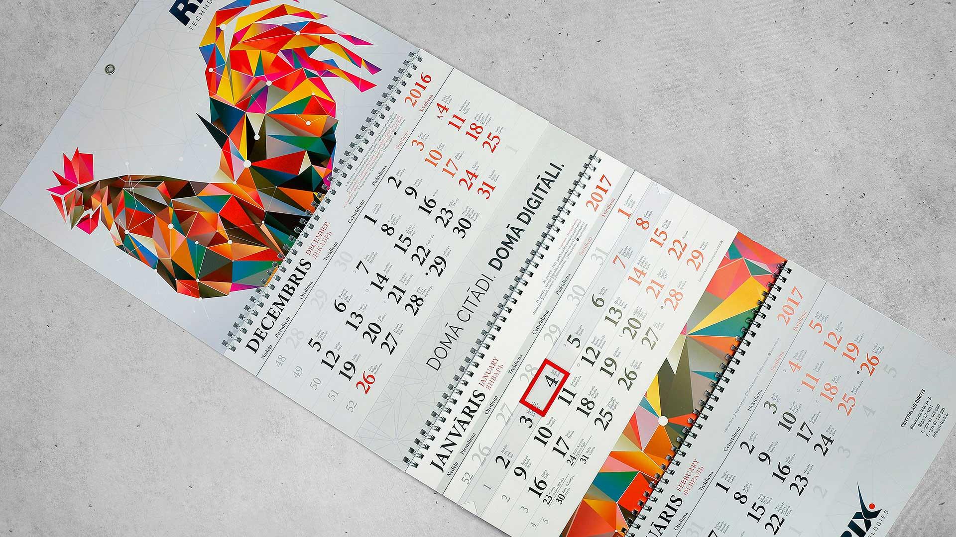 Sienas kalendāru druka RIX