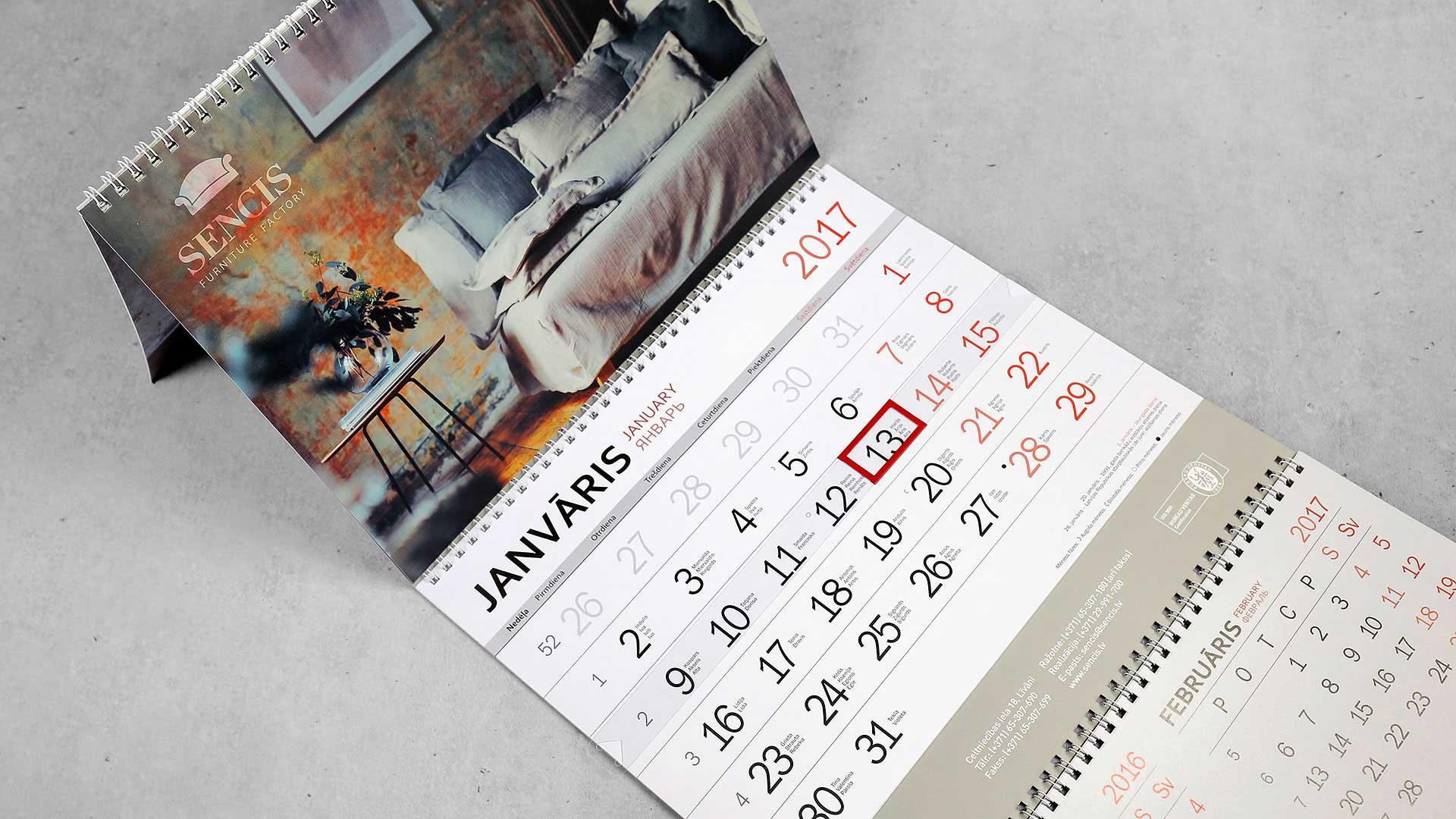 Sienas kalendāru druka Sencis
