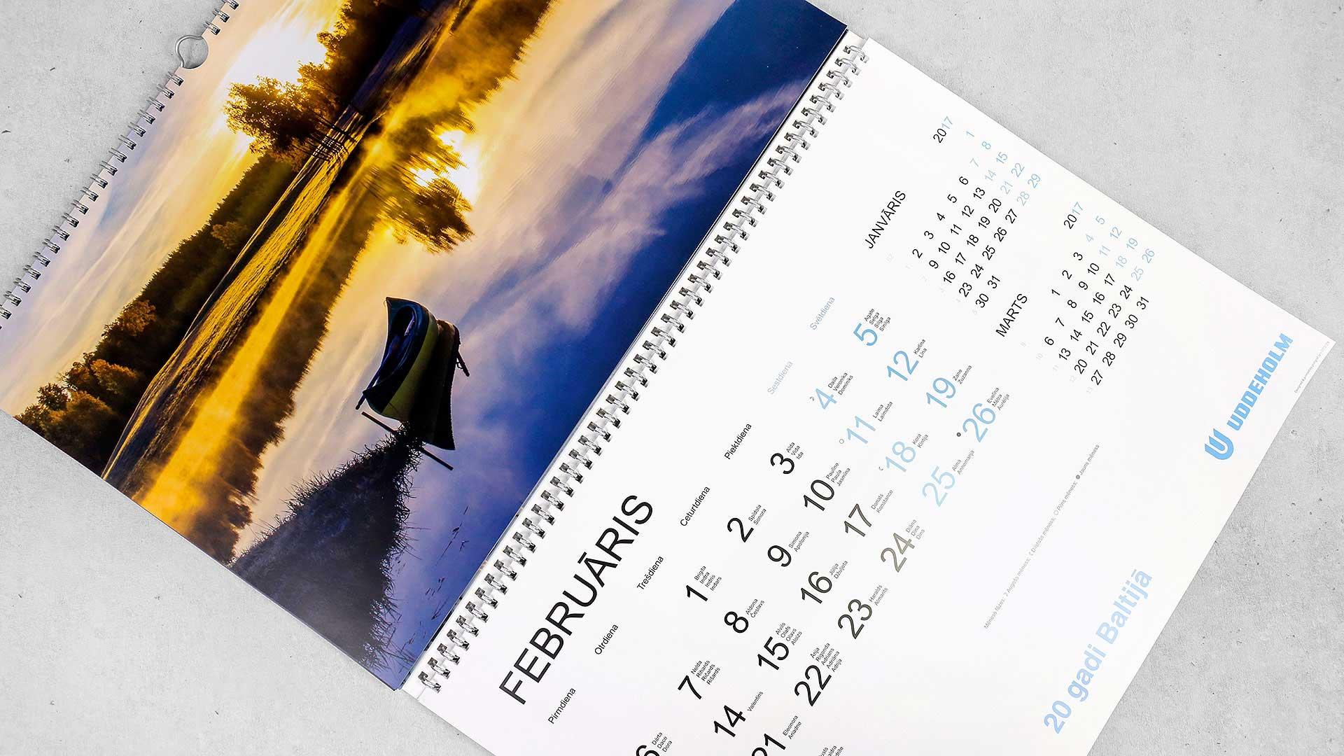 Sienas kalendāru druka Uddeholm