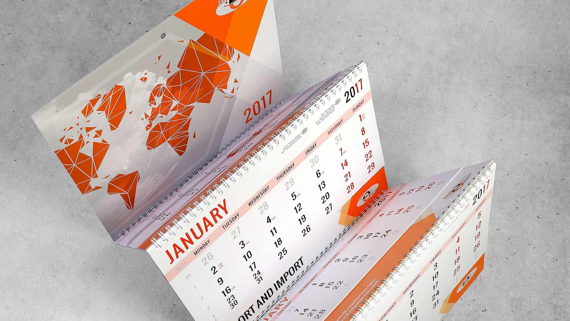 Sienas kalendāru druka Usa