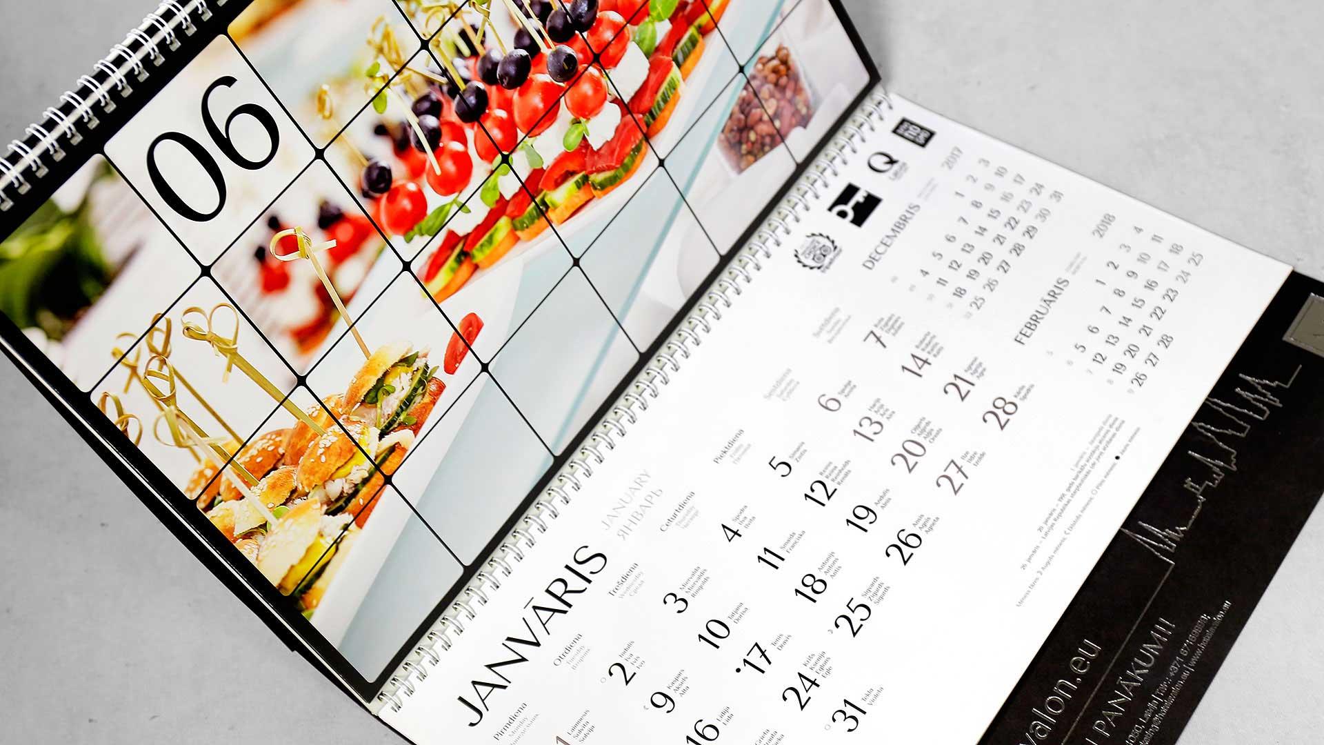 Sienas kalendāru izgatavošana Avalon
