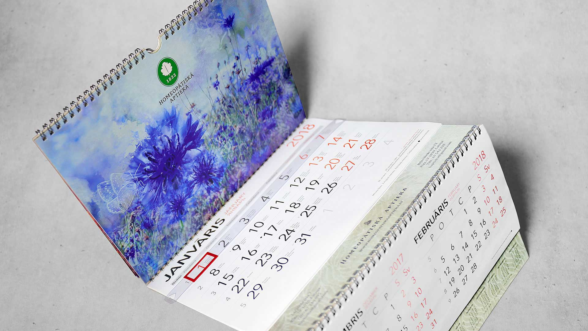 Sienas kalendāru izgatavošana Homeopātiskā aptieka