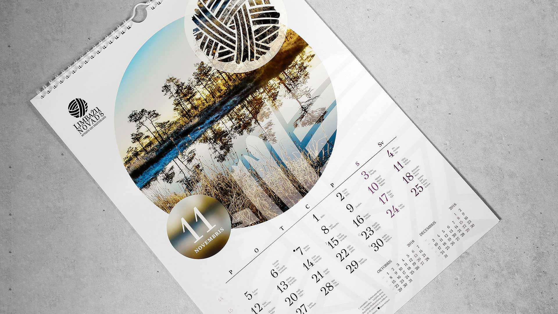 Sienas kalendāru izgatavošana Limbažu novads