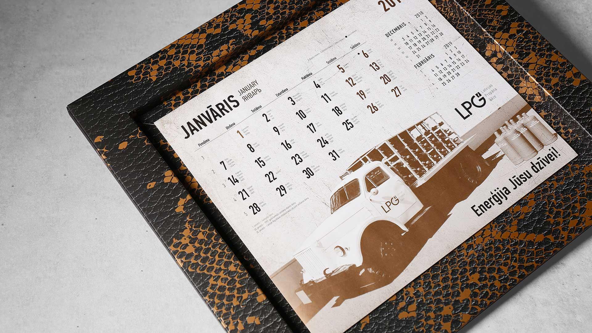 Sienas kalendāru izgatavošana LPG