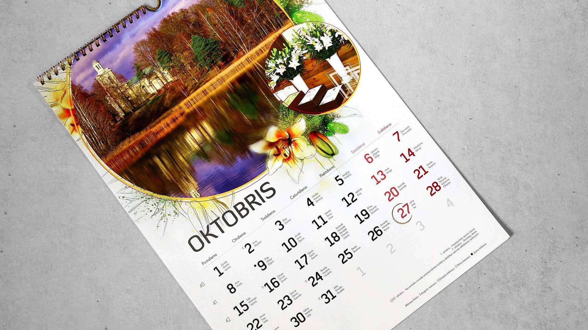 Sienas kalendāru izgatavošana
