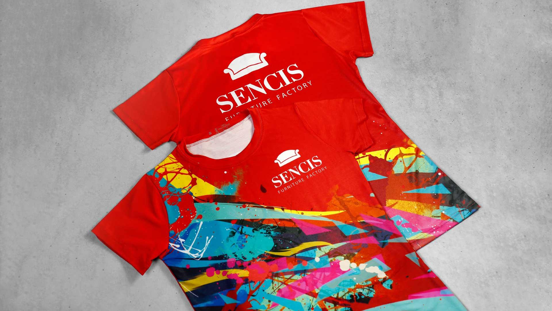 T-kreklu apdruka Sencis