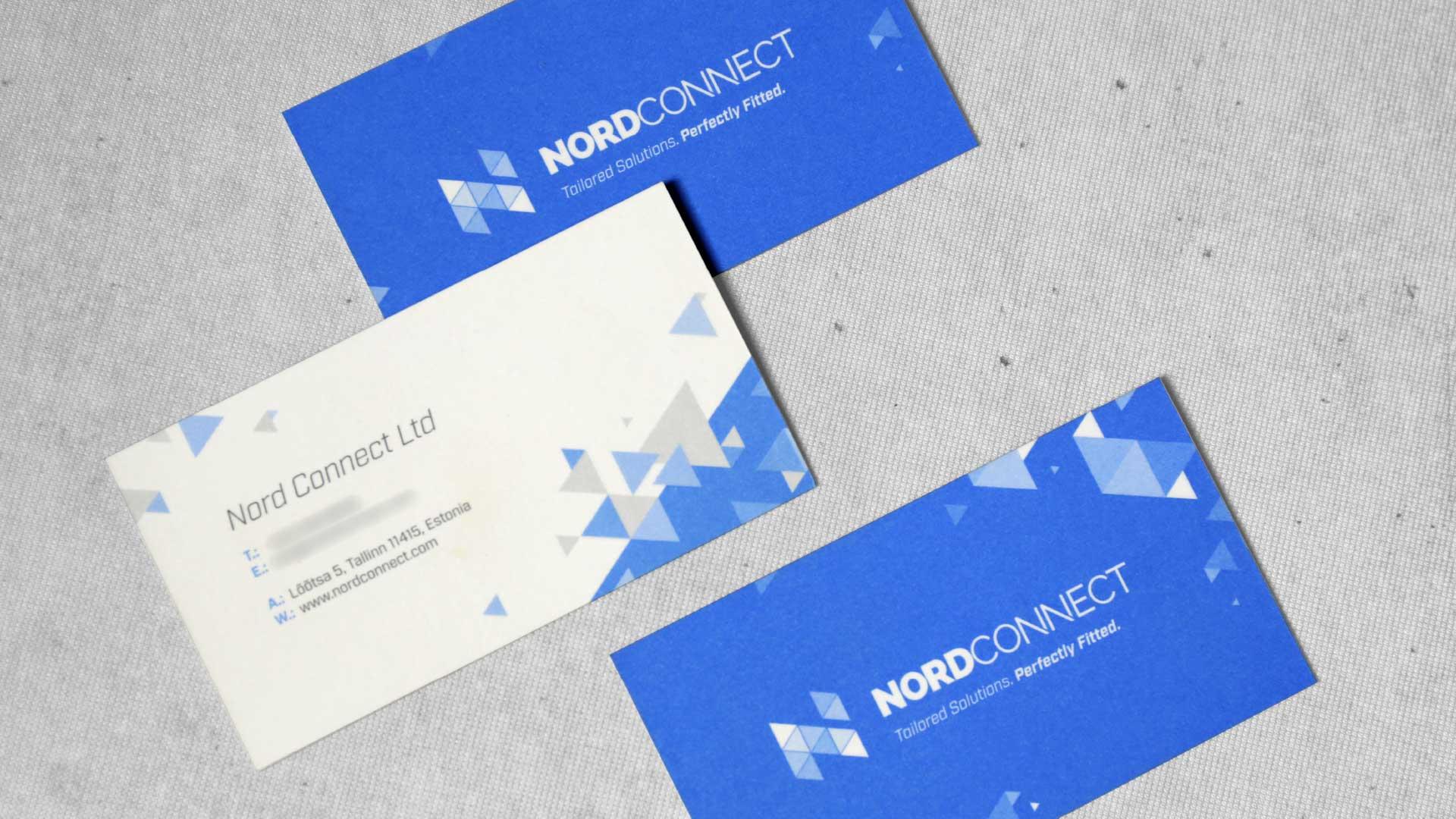 Vizītkaršu druka, dizains Nordconnect