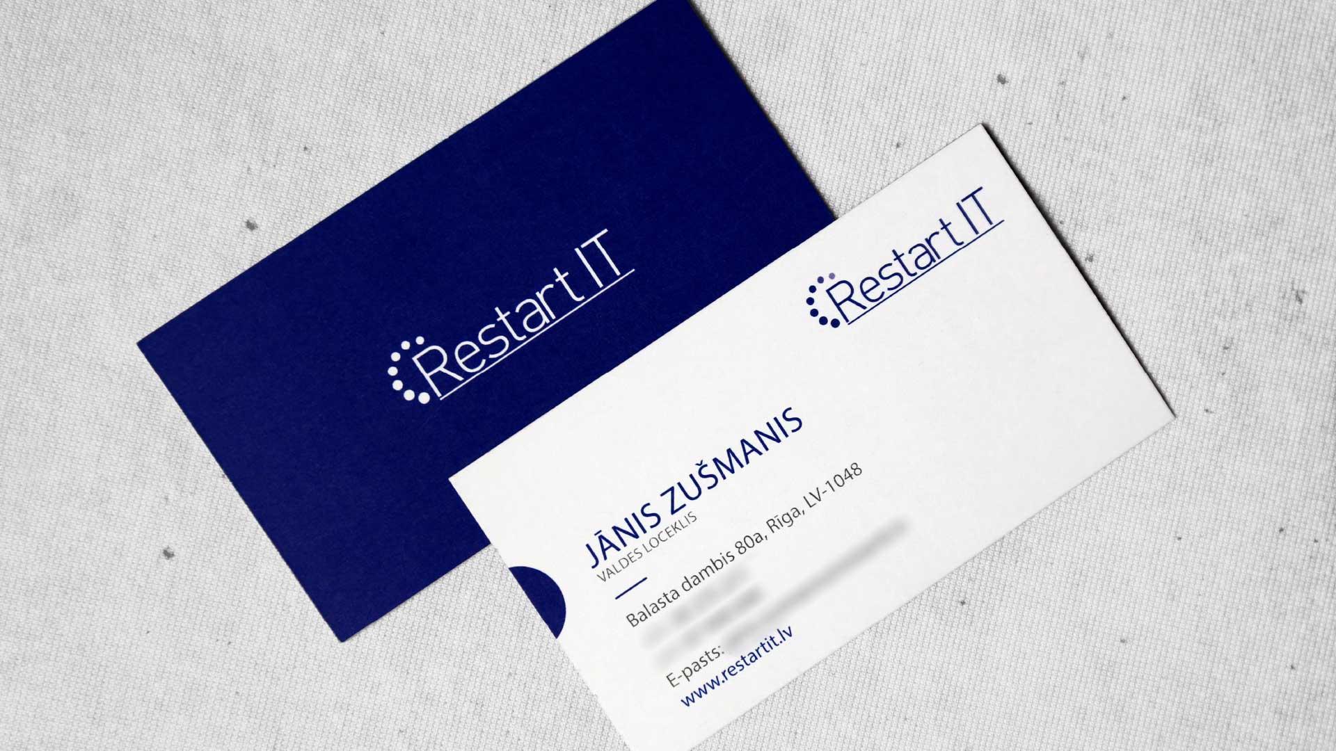 Vizītkaršu druka, dizains RestartIT